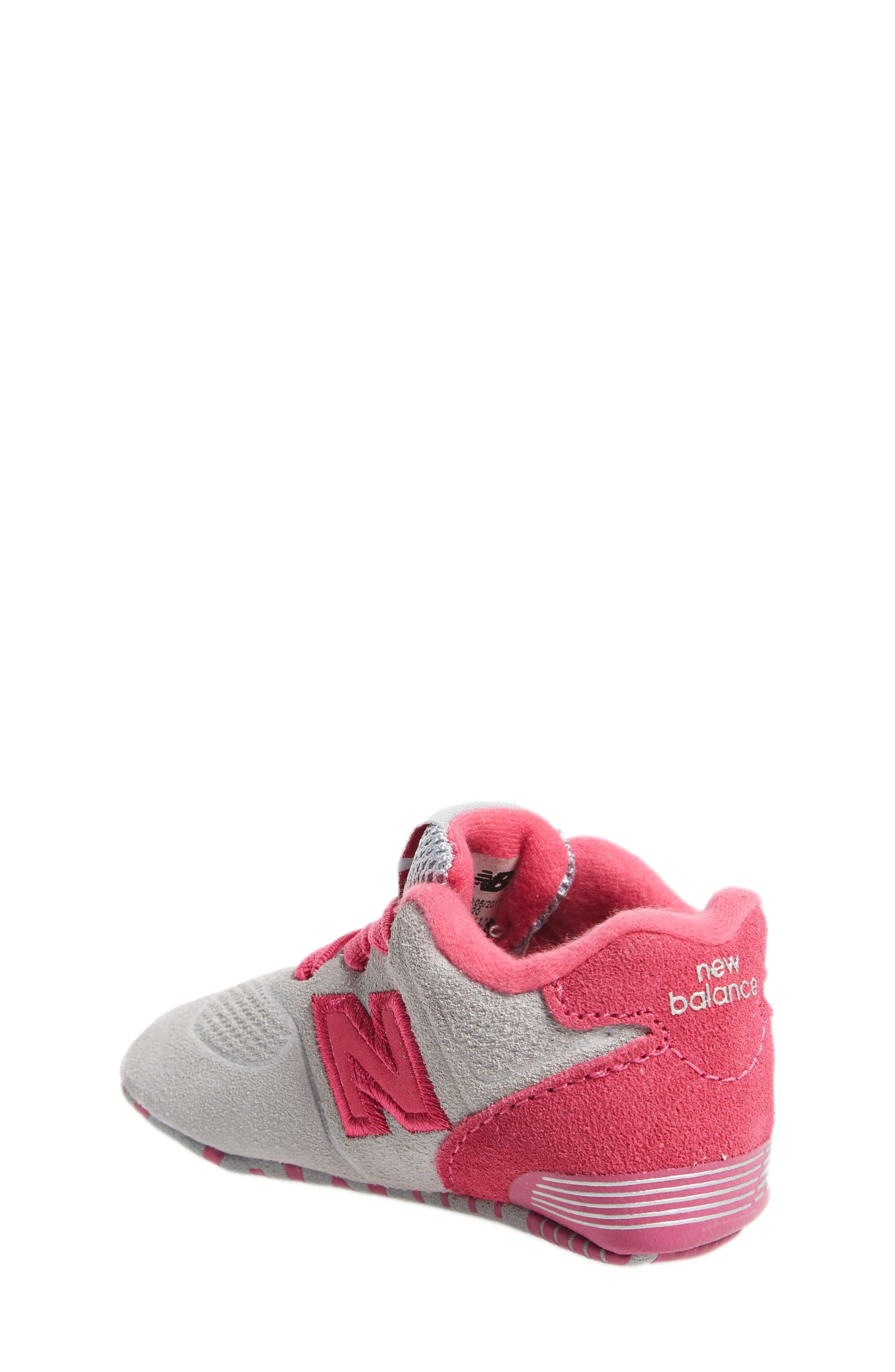 574 Crib Shoe,                             Alternate thumbnail 2, color,                             Pink/ Grey