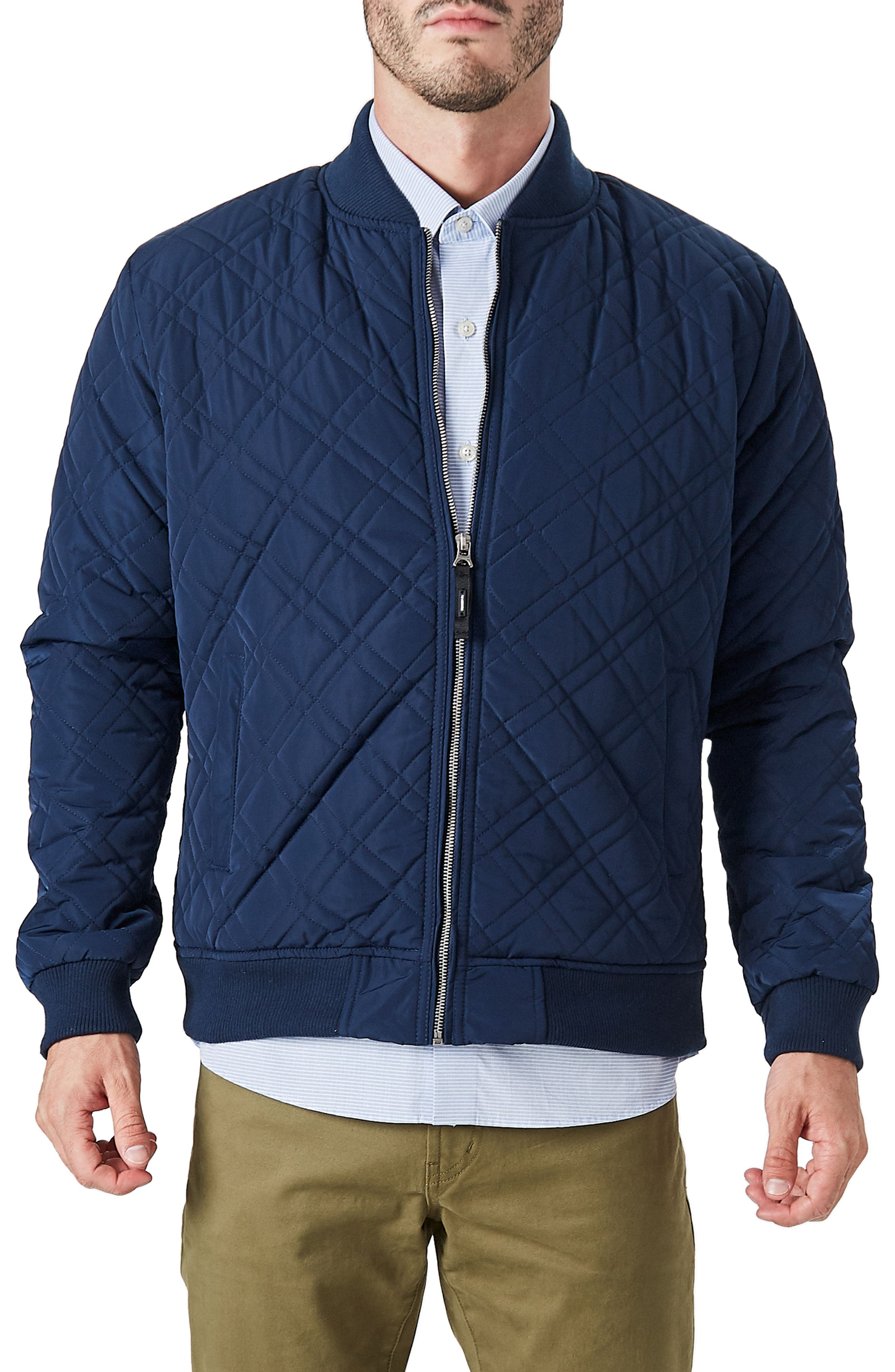 Arca Quilt Jacket,                         Main,                         color, Navy