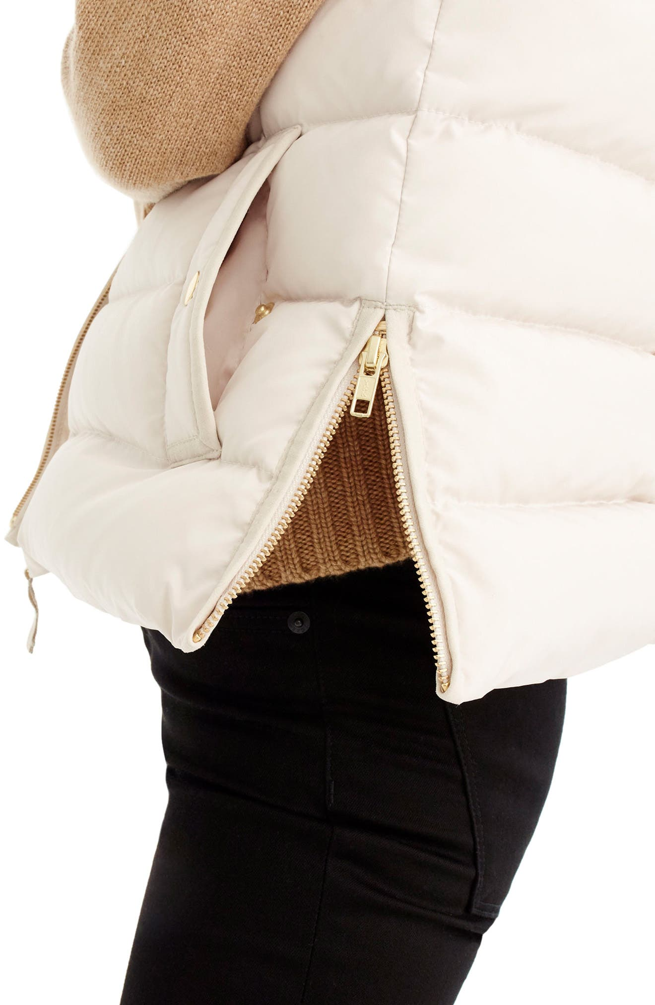 Anthem Down & Feather Fill Puffer Vest,                             Alternate thumbnail 2, color,                             Bleached Sand