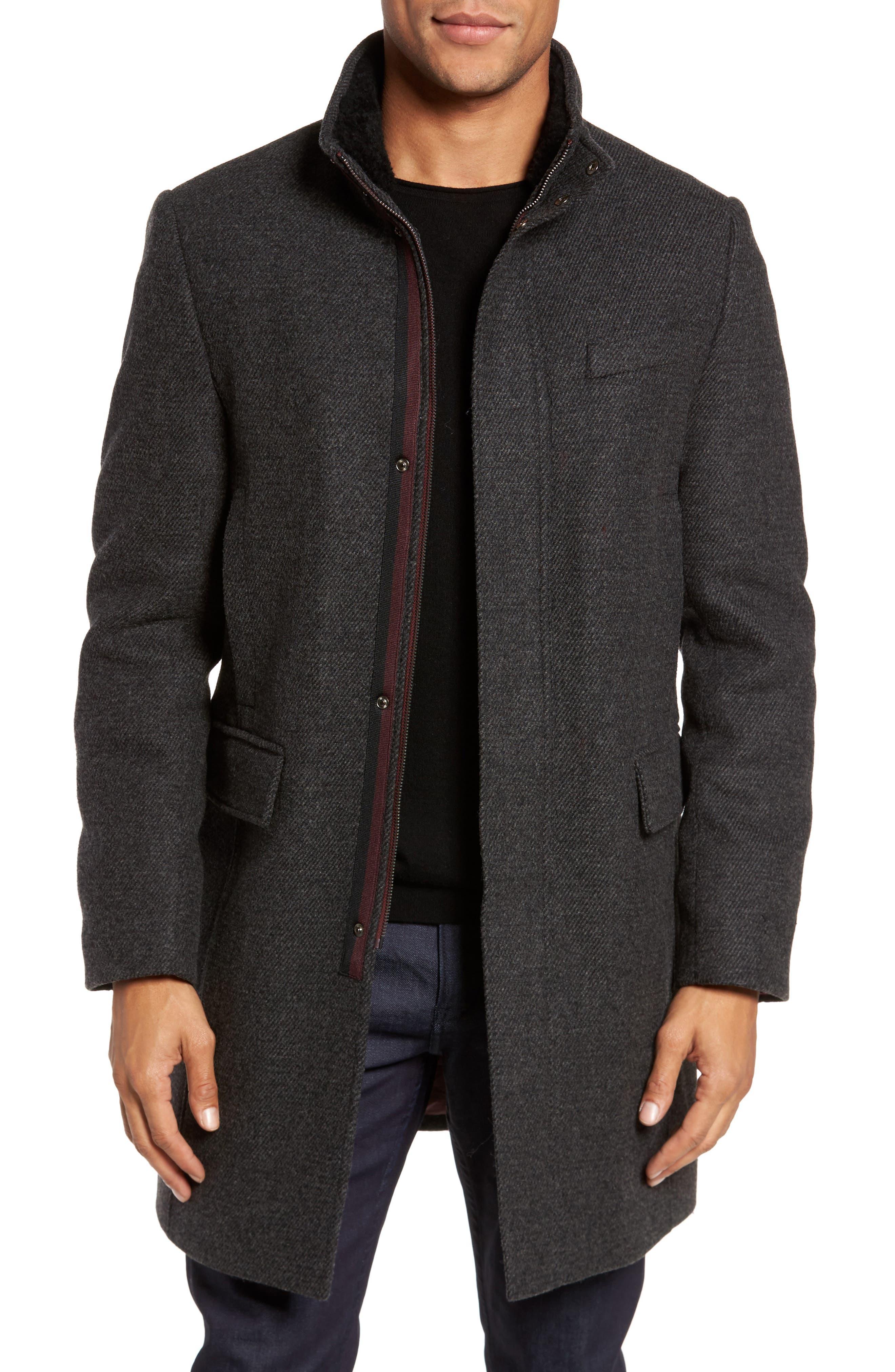 Ted Baker London Gino Wool Blend Overcoat