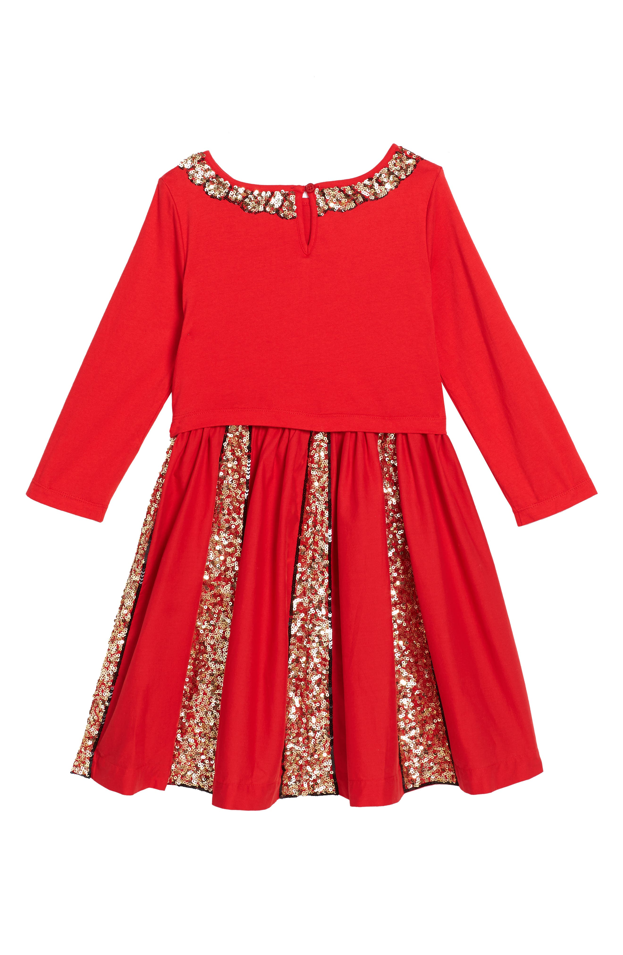 Sequin Skater Dress,                             Alternate thumbnail 2, color,                             Ladybird Red Red