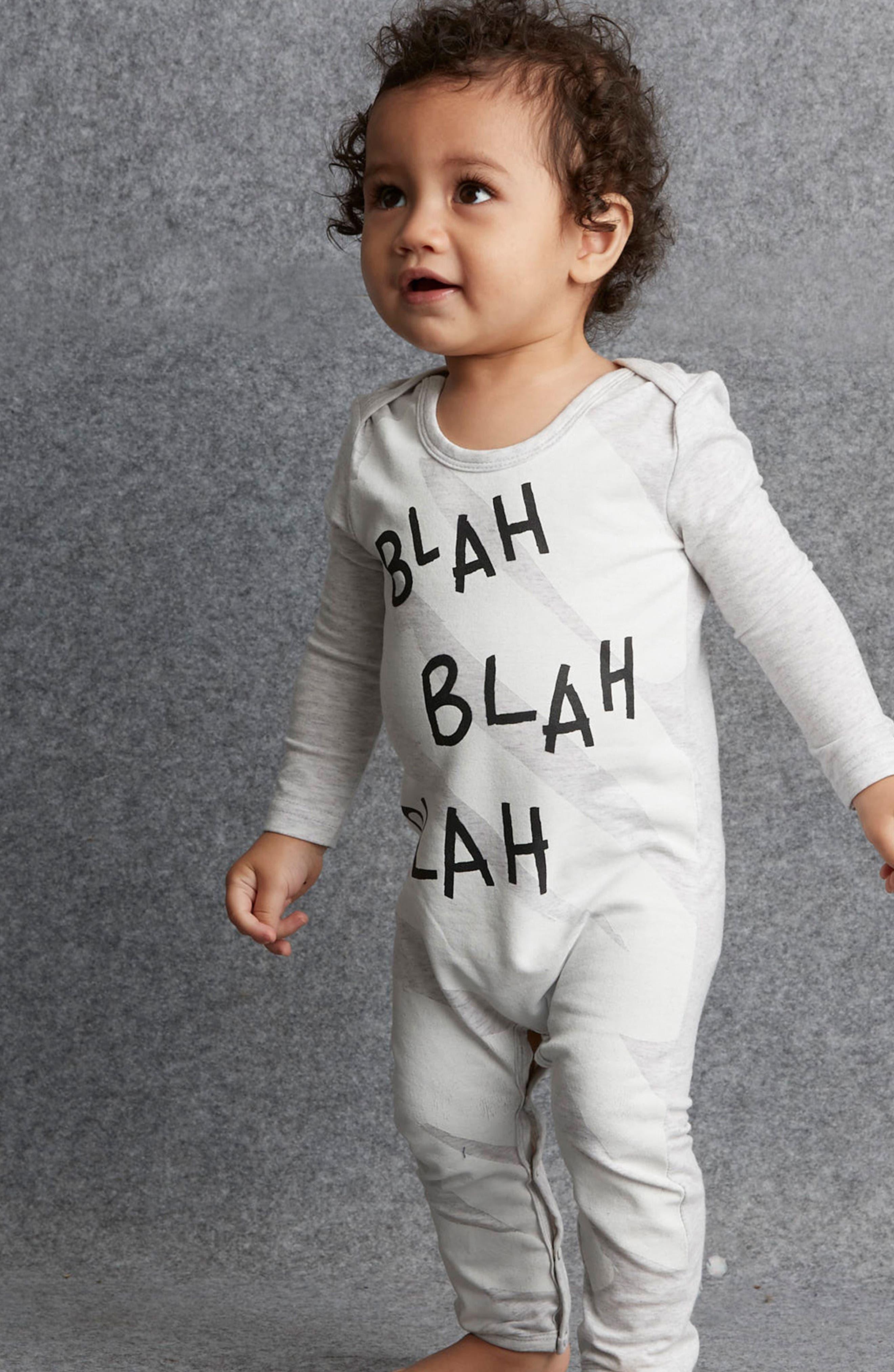 Alternate Image 3  - SOOKIbaby Blah Blah Blah Romper (Baby)