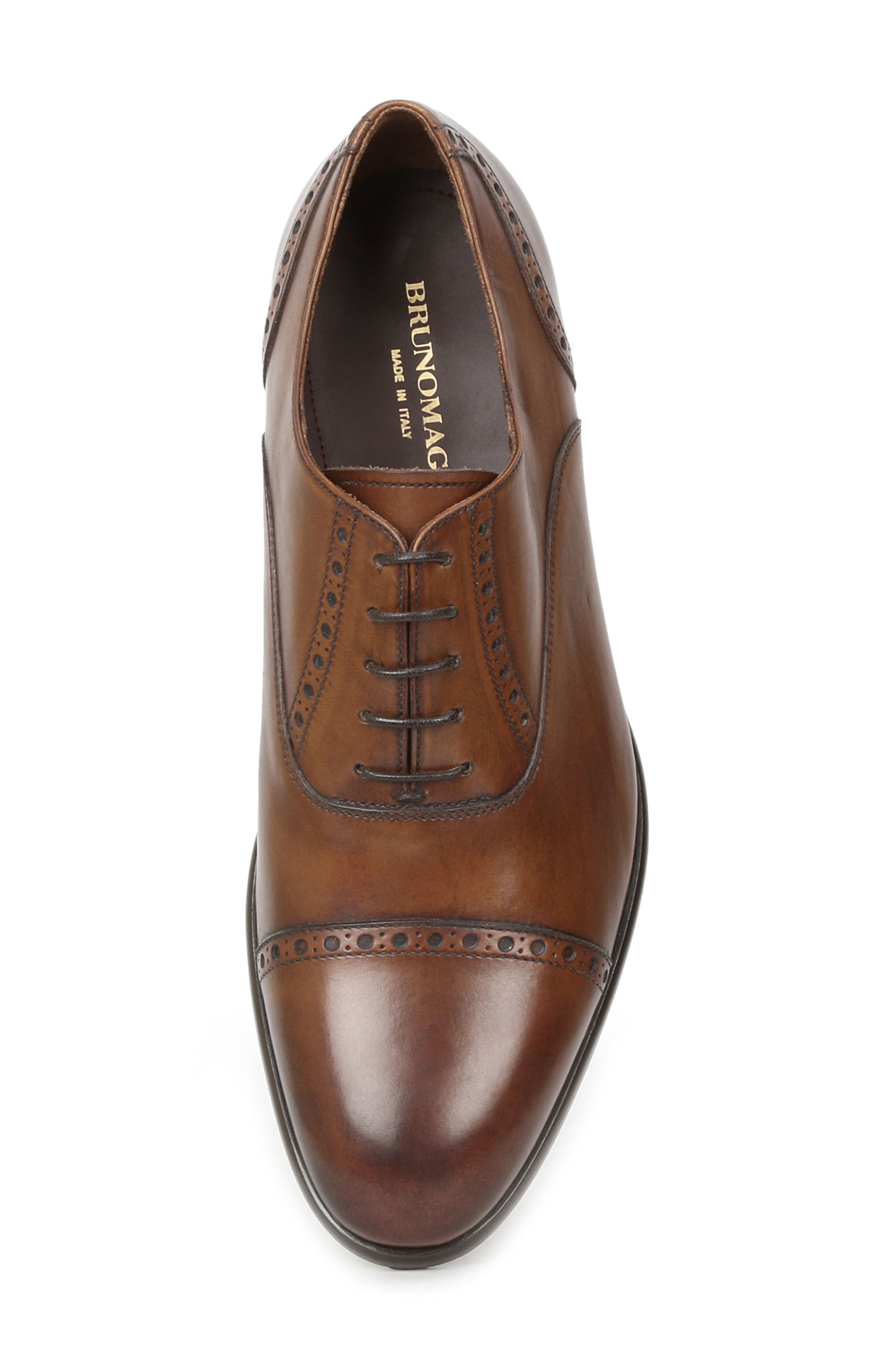 Pisa Cap Toe Oxford,                             Alternate thumbnail 5, color,                             Cognac