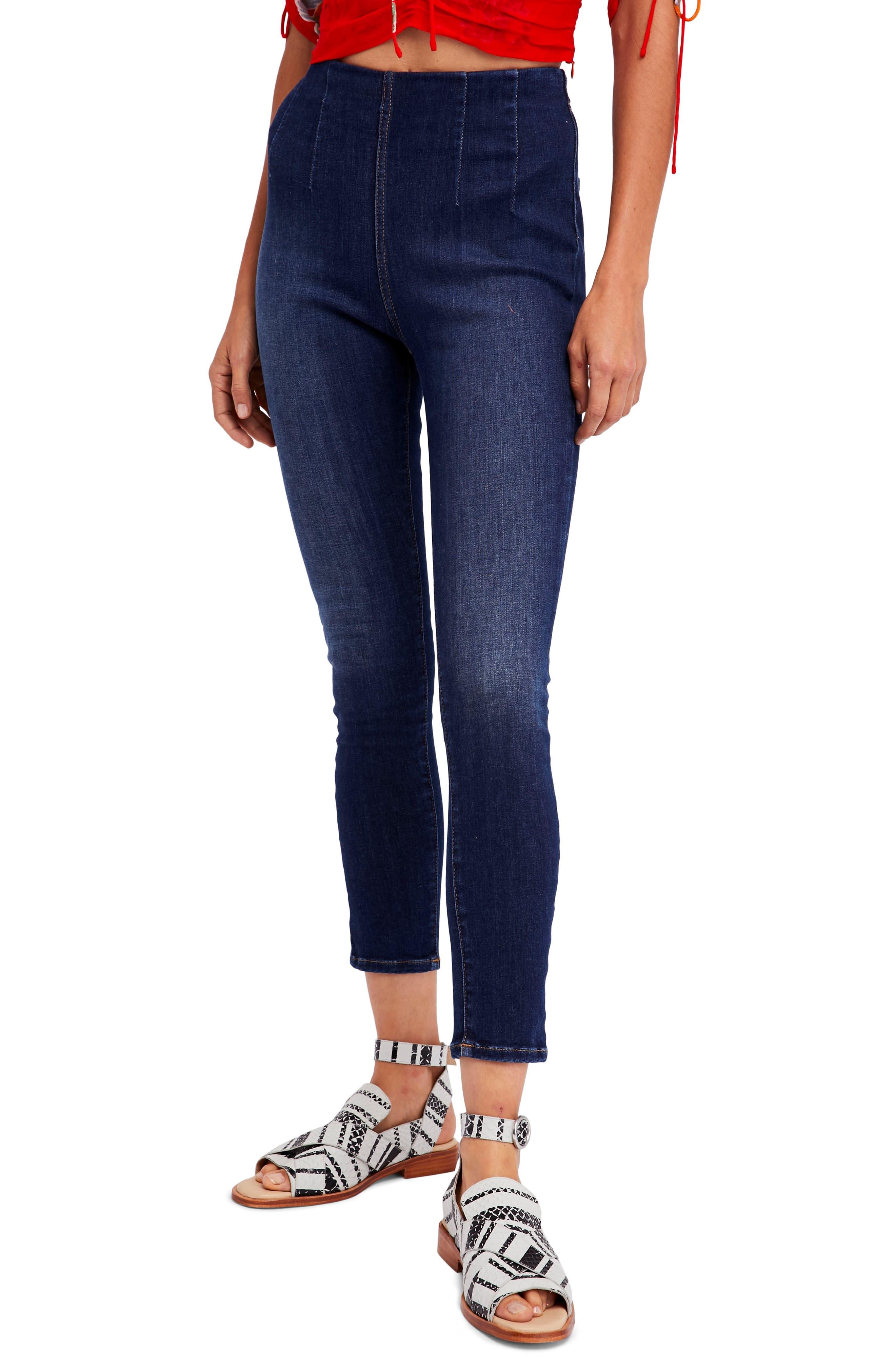Ultra High Pull-On Leggings,                         Main,                         color, Blue
