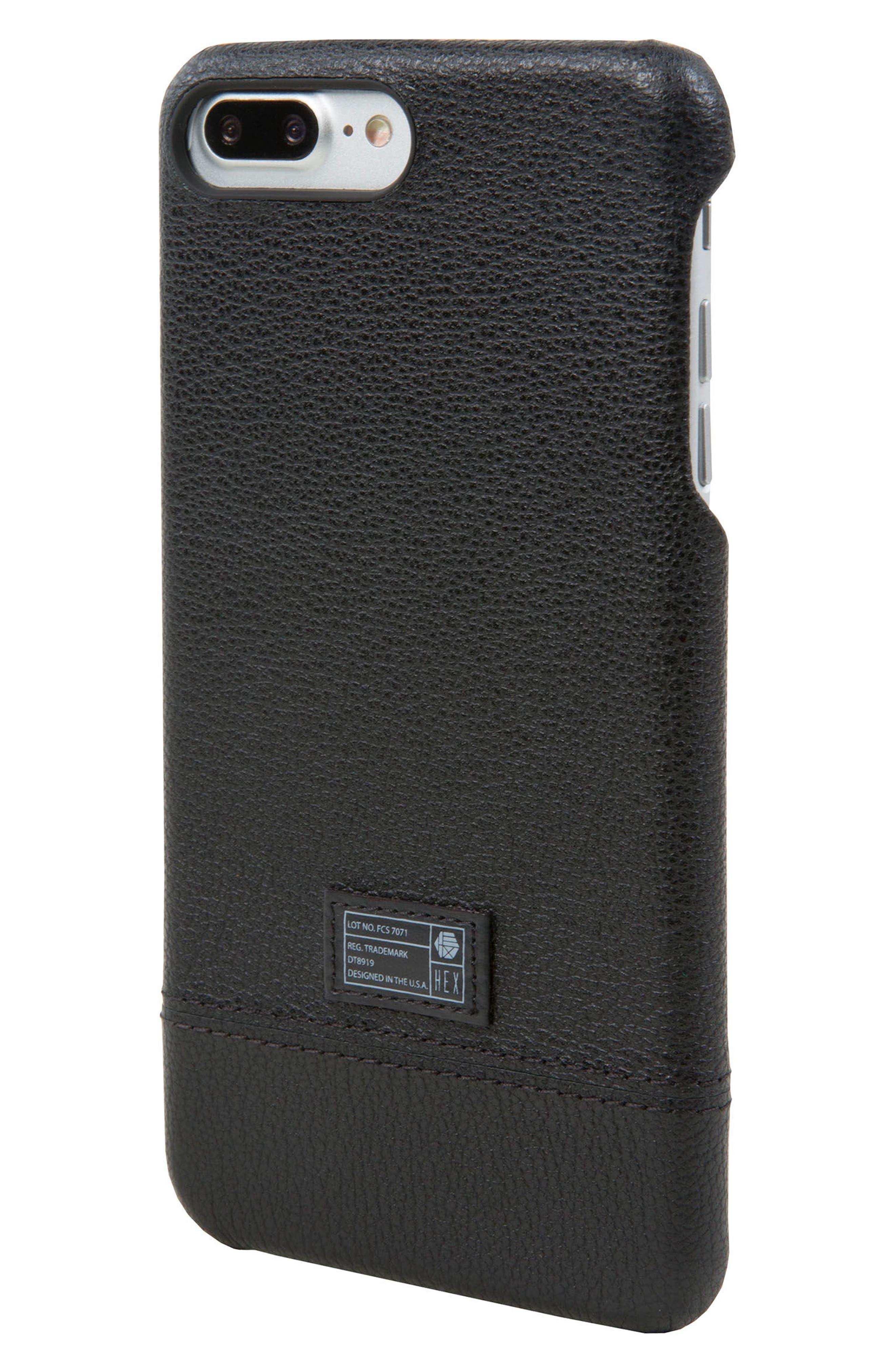Focus Leather iPhone 6/6s/7/8 Plus Case,                         Main,                         color, Black