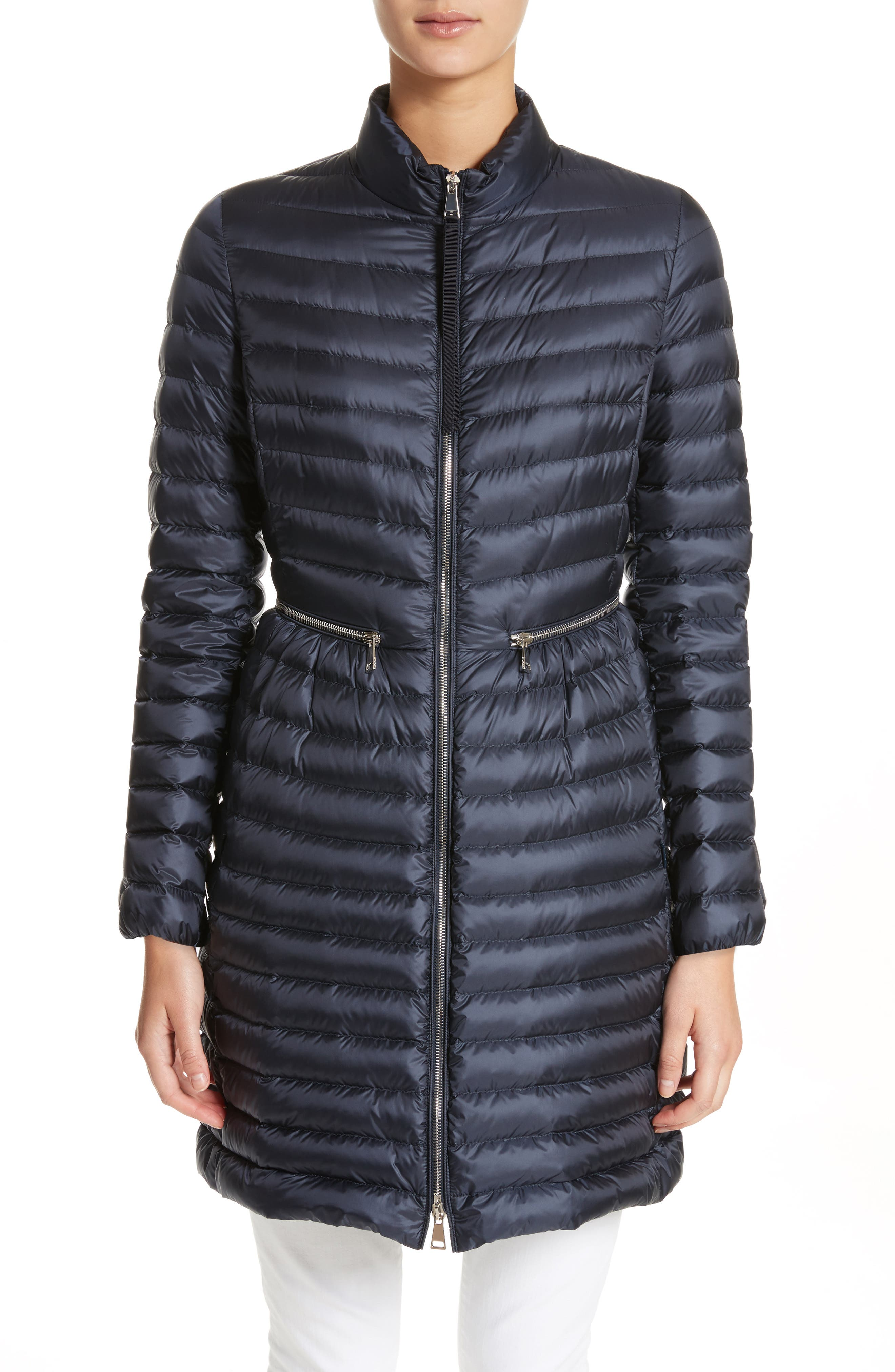 Agatelon Quilted Puffer Coat,                         Main,                         color, Navy