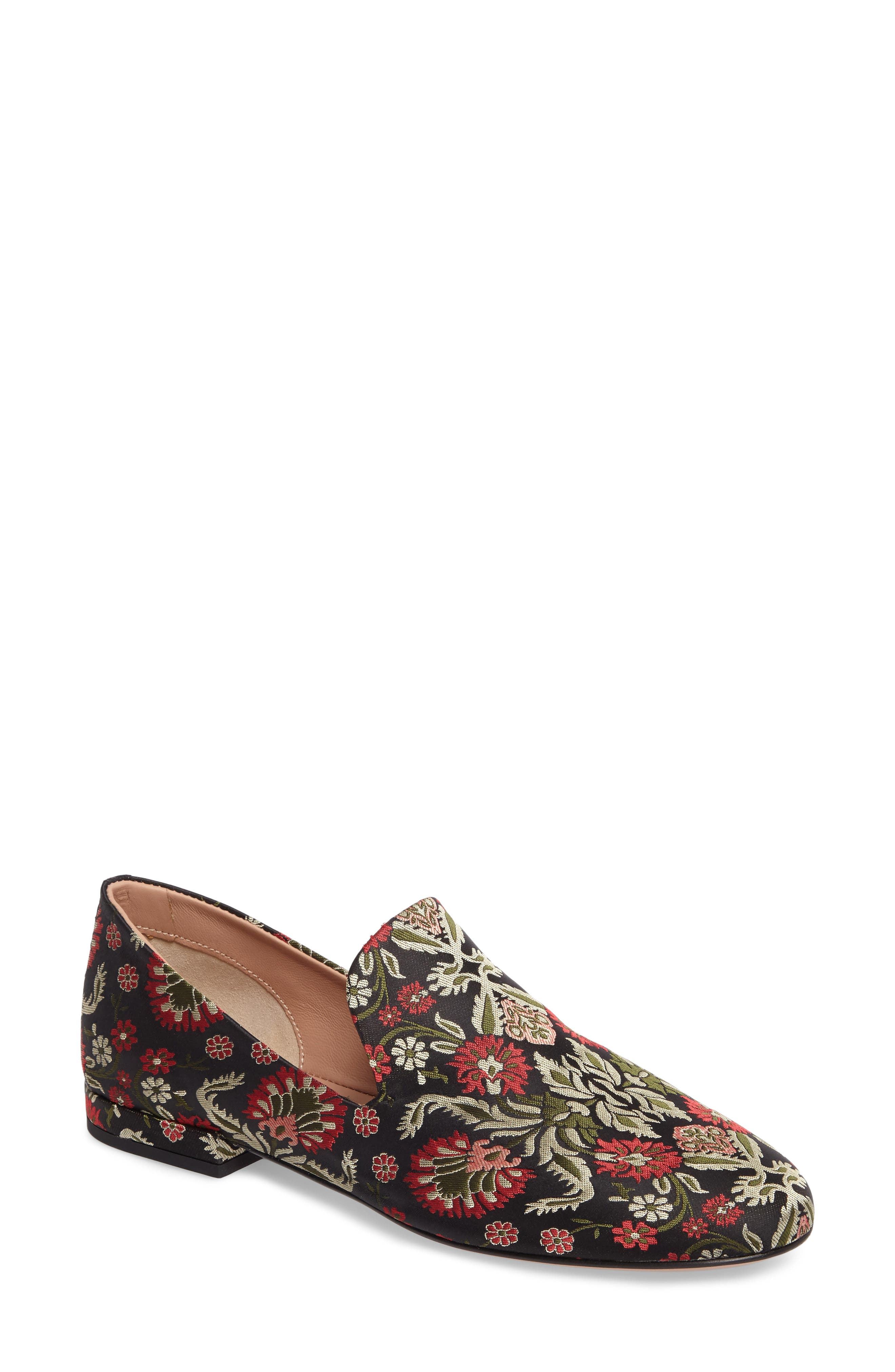 Gabriella Loafer,                         Main,                         color, Red / Green Fabric