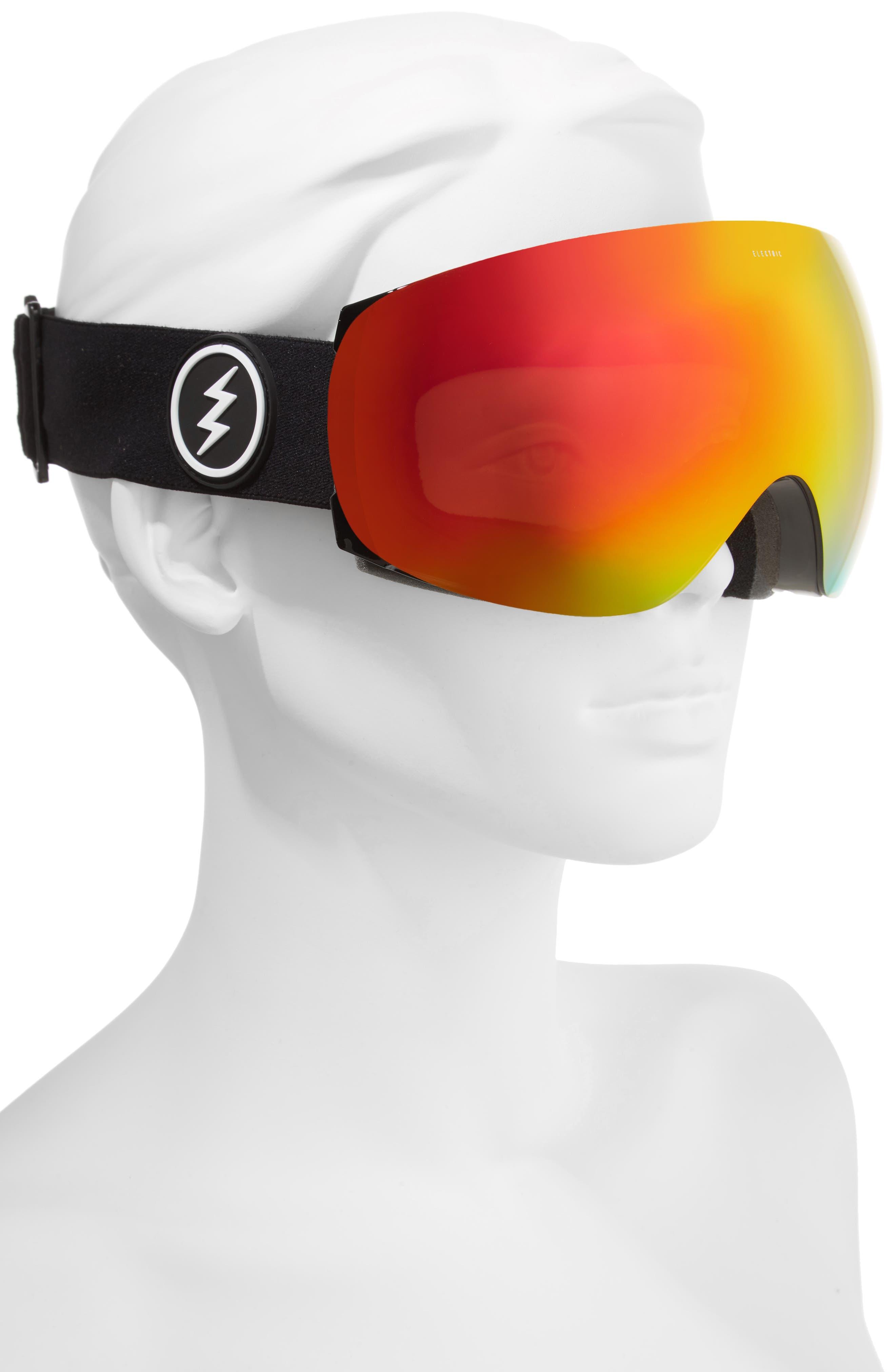 EG3.5 Snow Goggles,                             Alternate thumbnail 2, color,                             Gloss Black/ Red Chrome