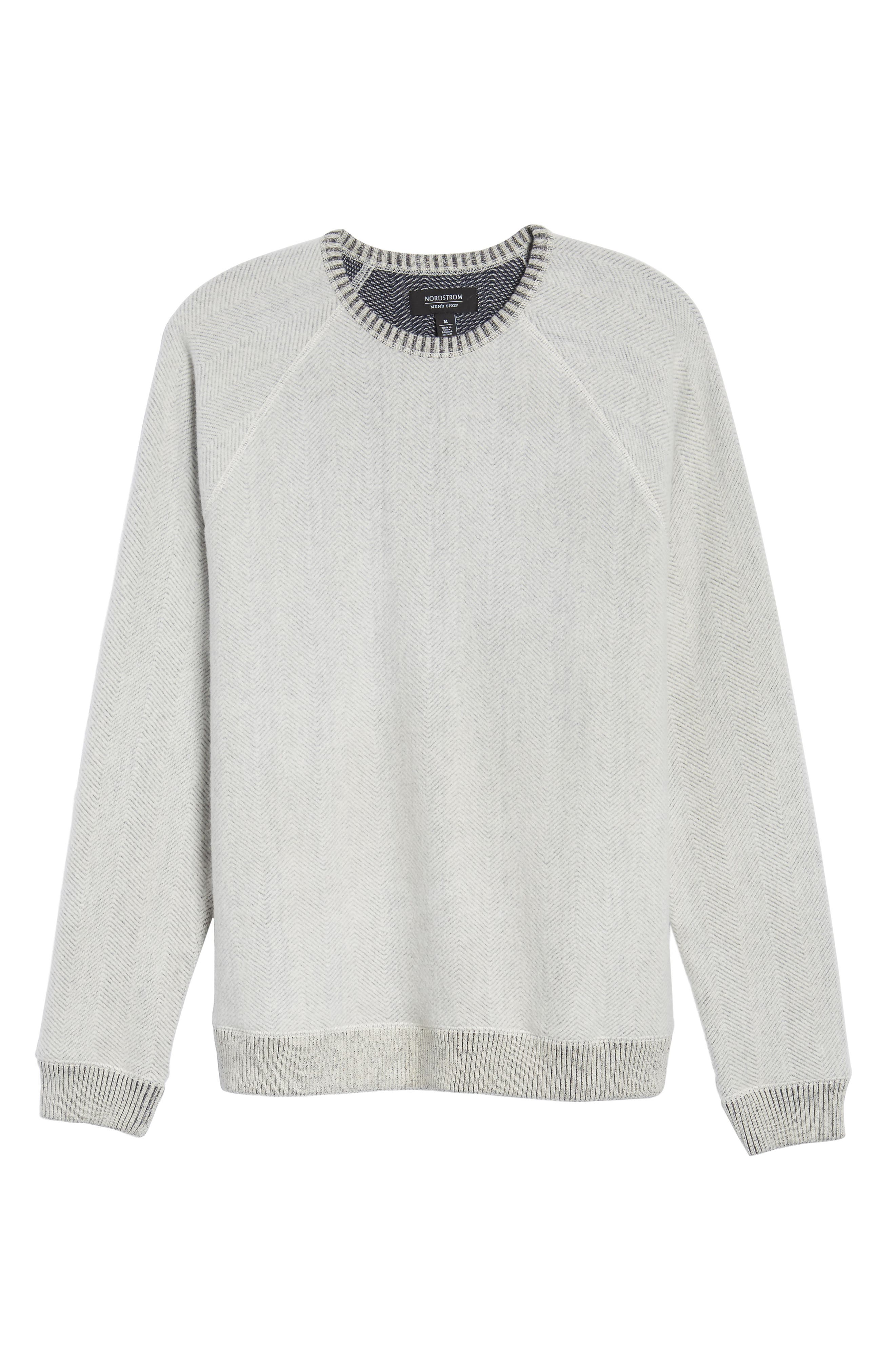 Alternate Image 6  - Nordstrom Men's Shop Brushed Fleece Sweatshirt