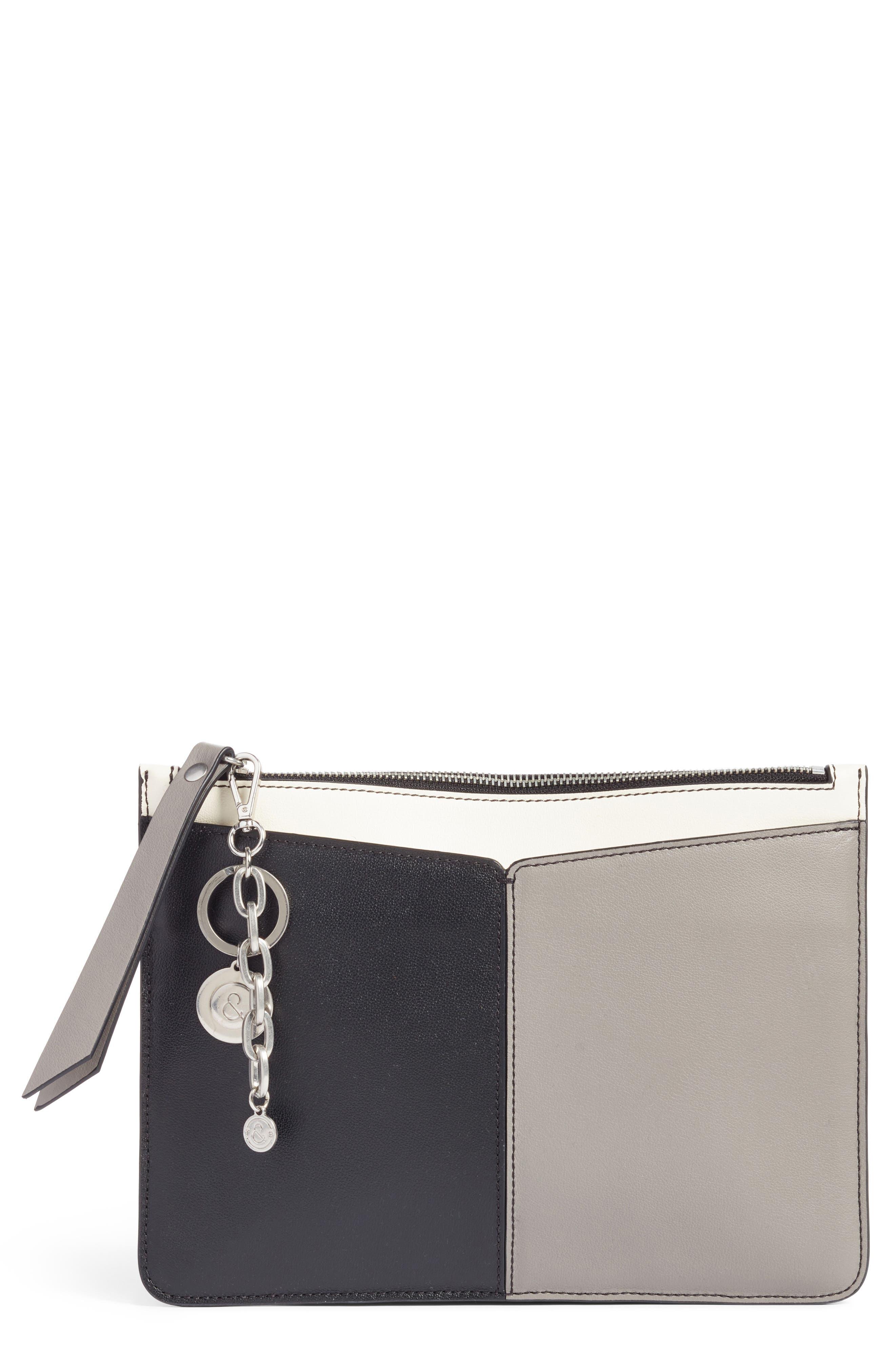Treasure & Bond Beckett Colorblock Leather Pouch