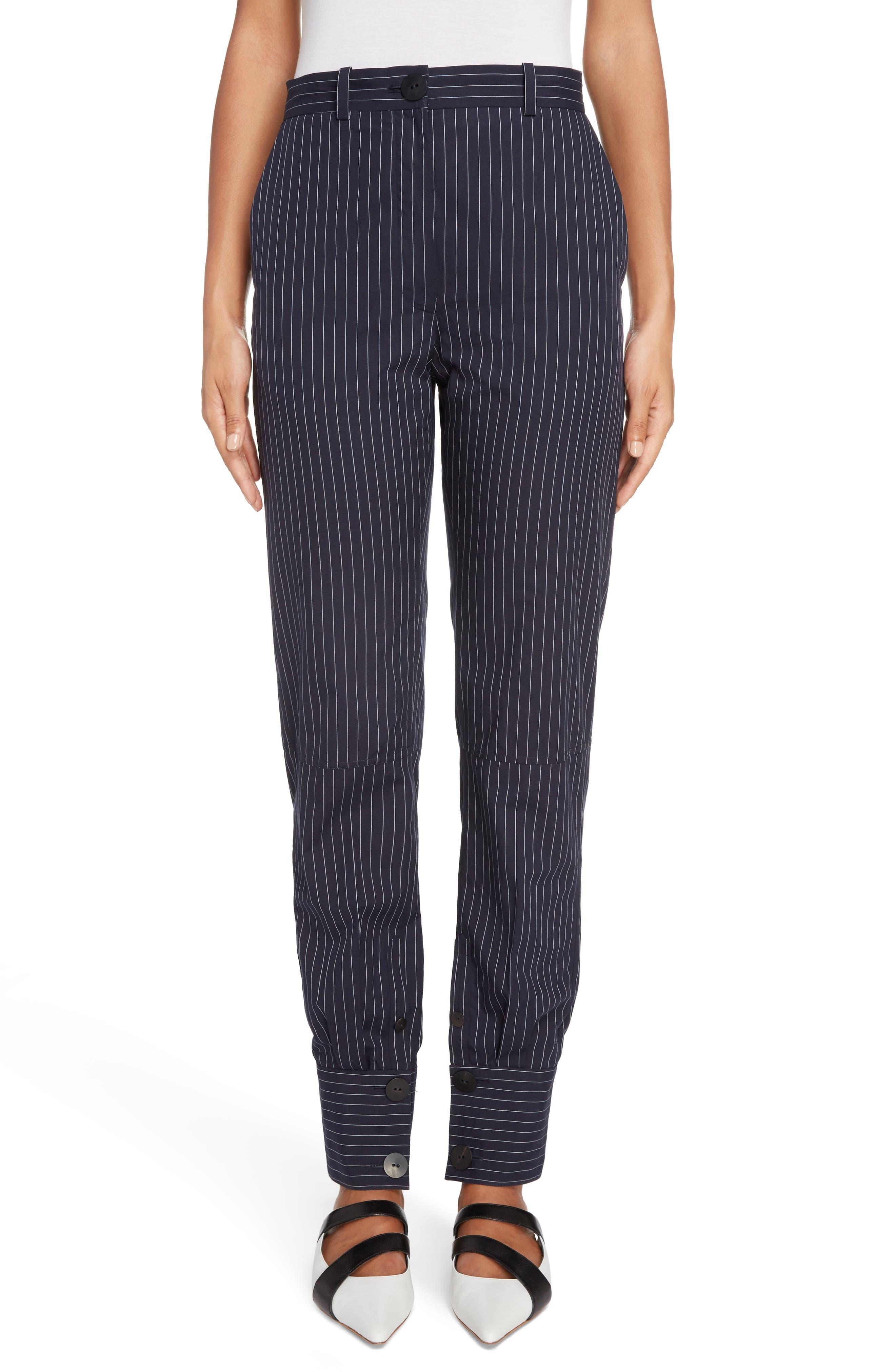J.W.ANDERSON Cuffed Pinstripe Trousers