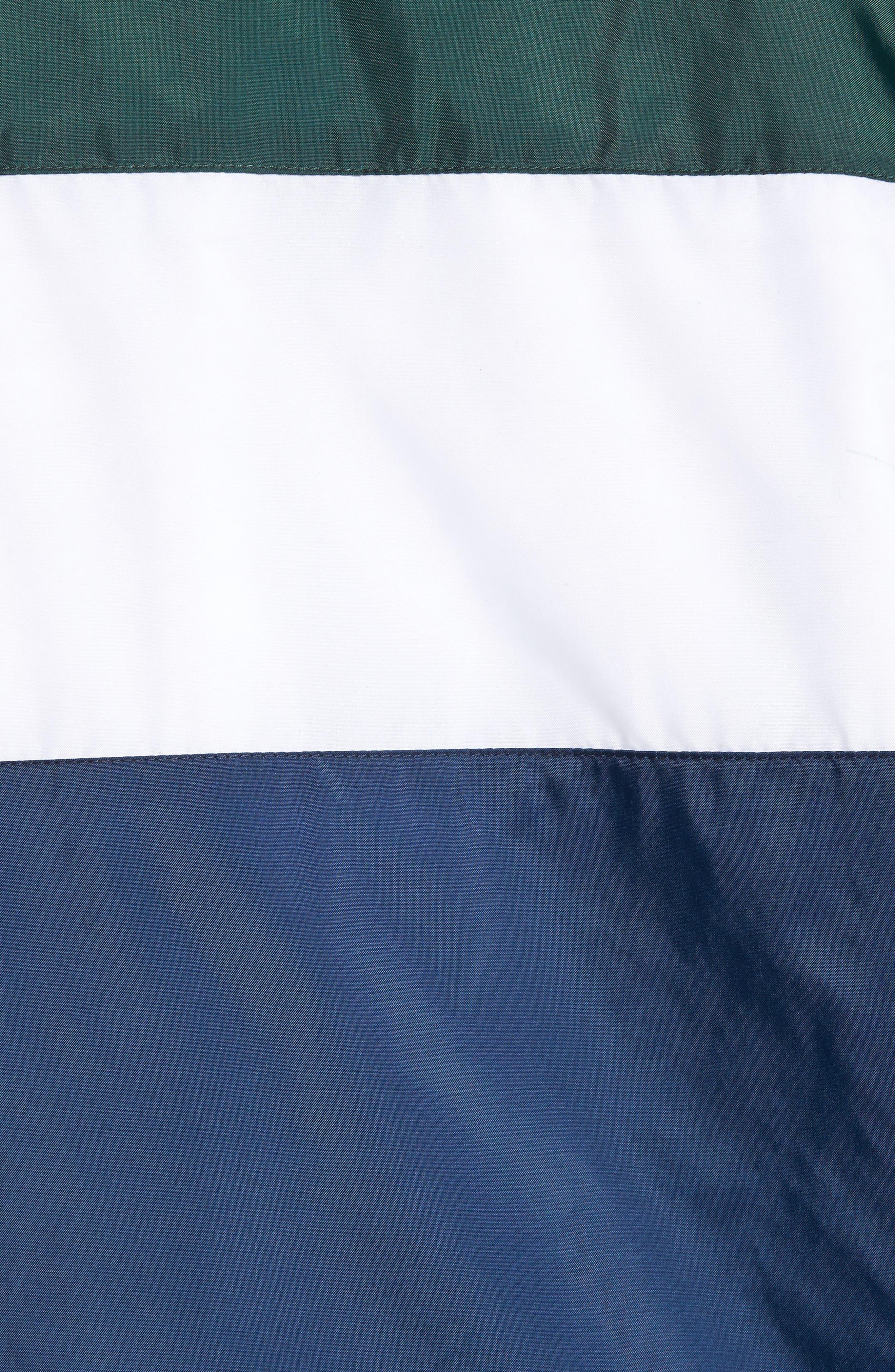 Starboard Water Resistant Windbreaker,                             Alternate thumbnail 5, color,                             Dress Blues/ Vans Scarab