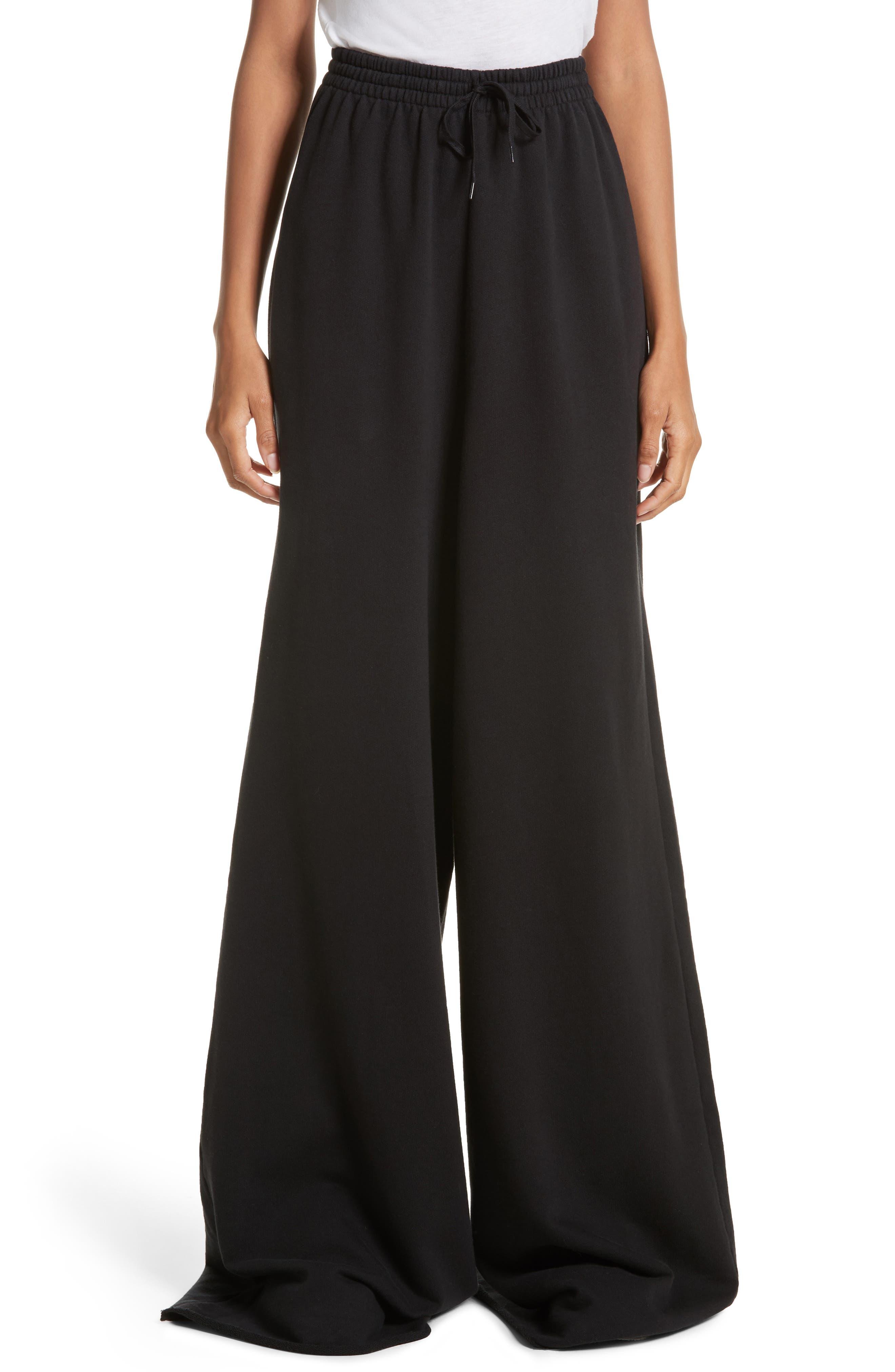 Oversize Wide Leg Jogger Pants,                         Main,                         color, Black
