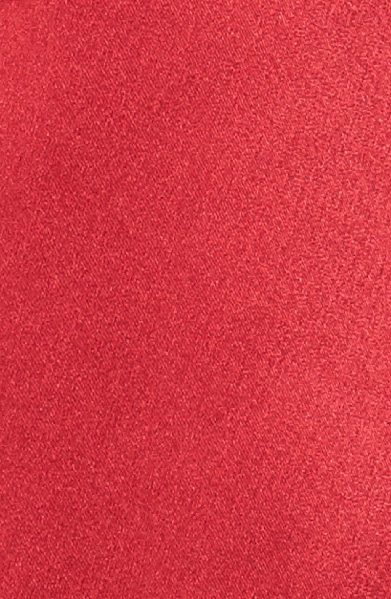 Tie Sleeve Minidress,                             Alternate thumbnail 5, color,                             Scarlett Red