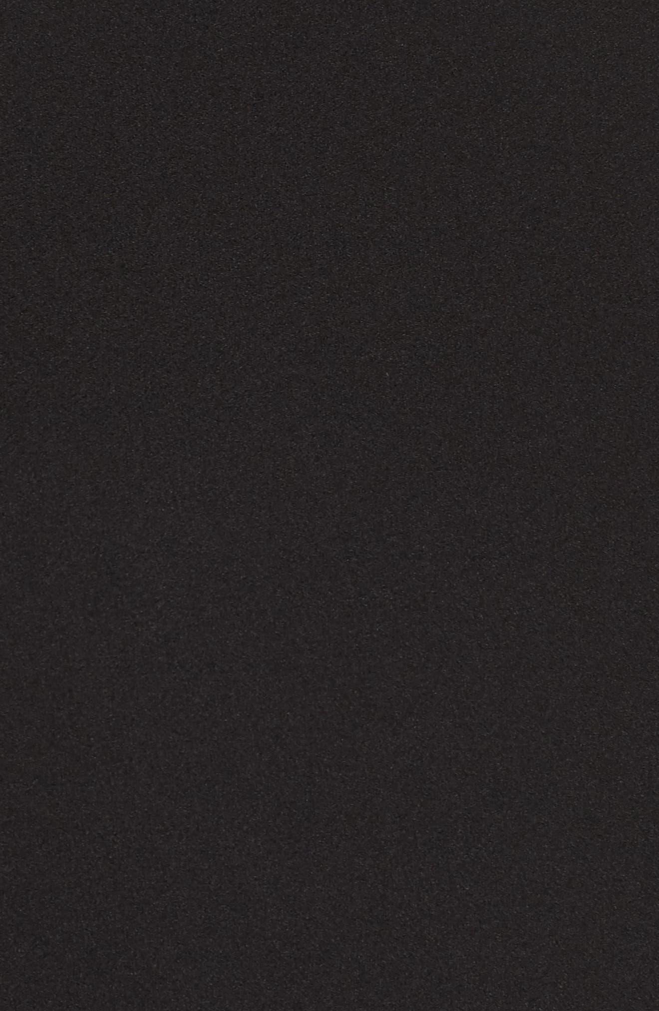 Split Sleeve Shift Dress,                             Alternate thumbnail 5, color,                             Black