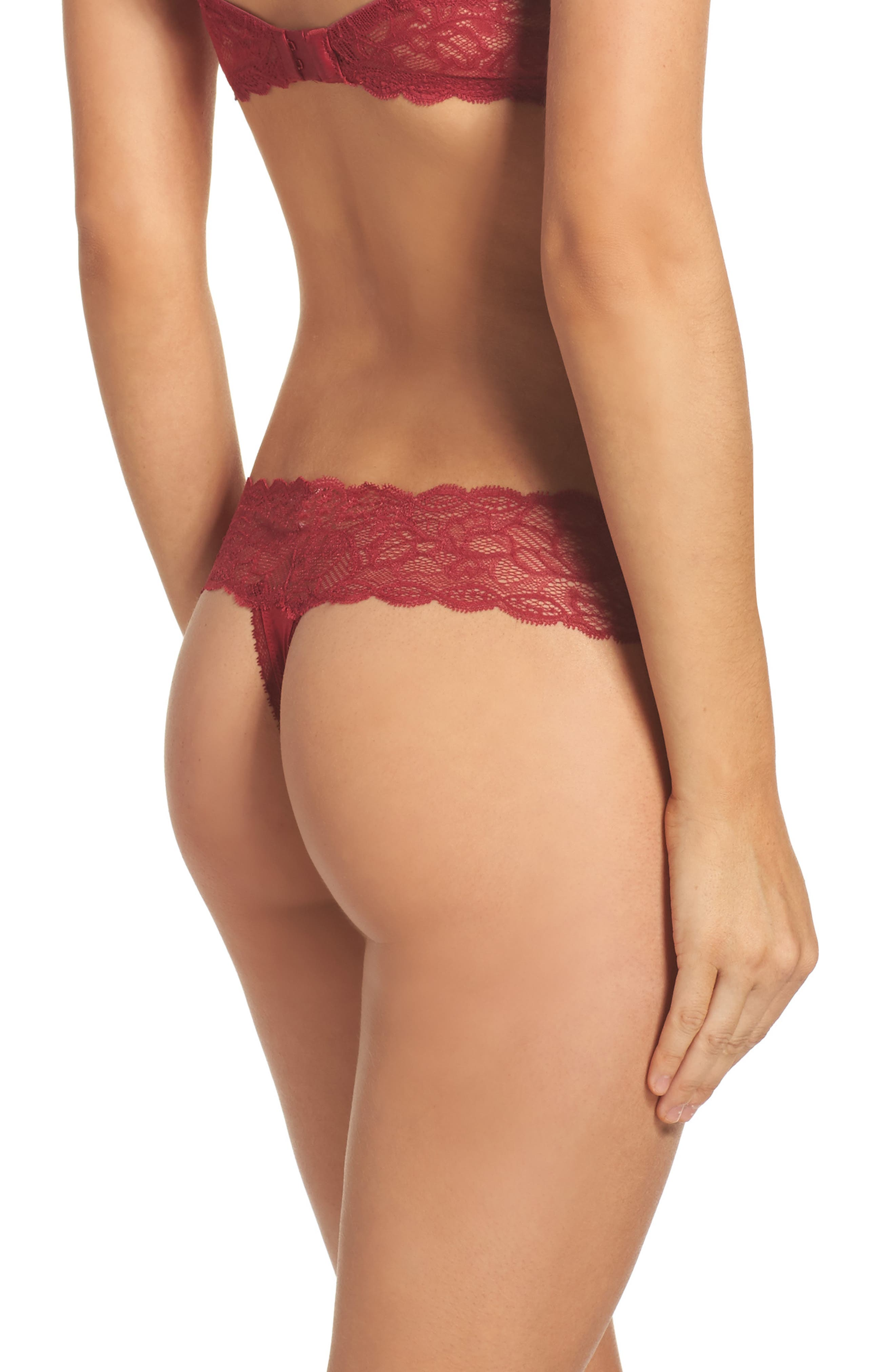 Alternate Image 2  - Calvin Klein Seductive Comfort Lace Thong