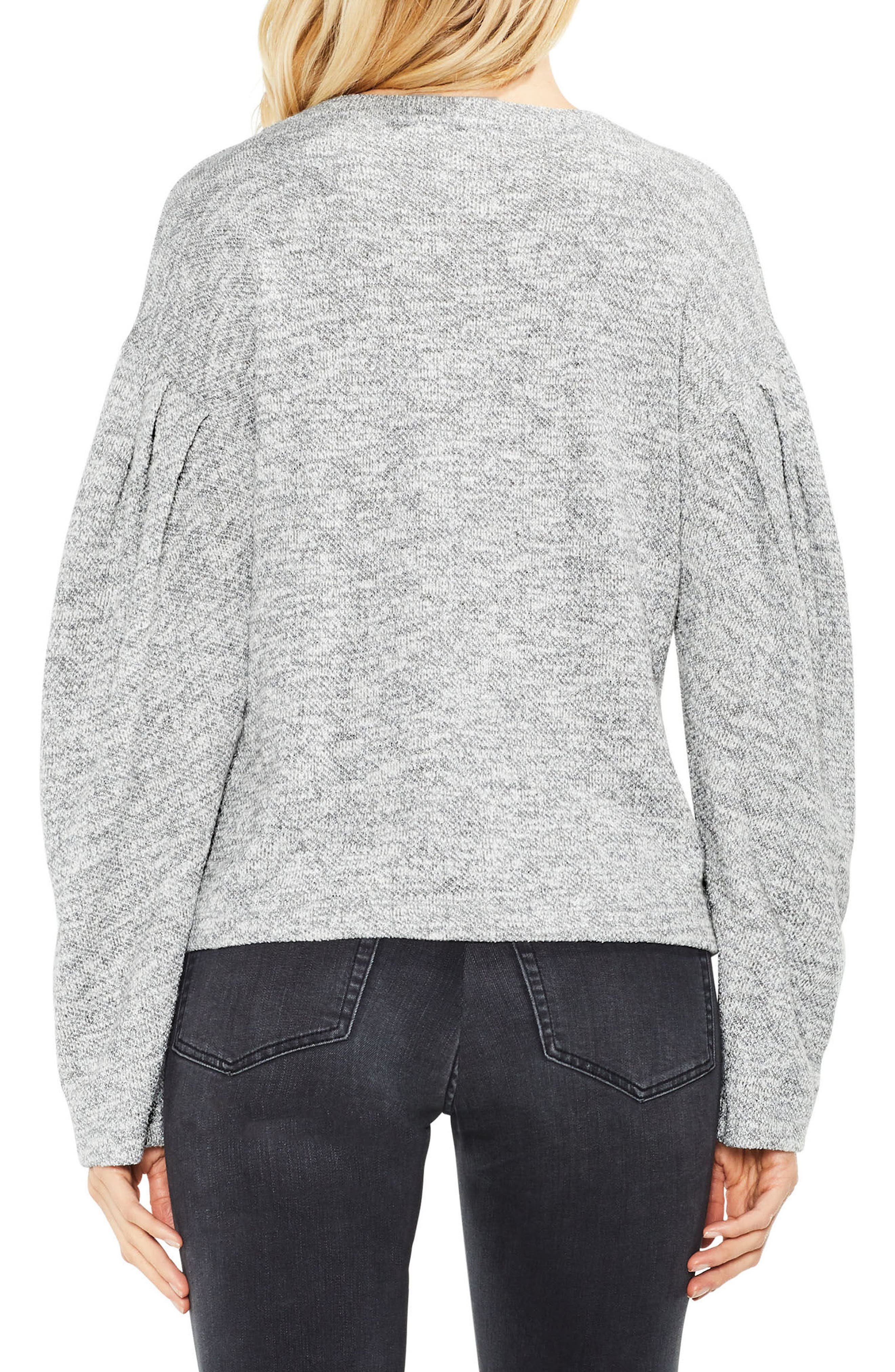Metallic Knit Sweater,                             Alternate thumbnail 2, color,                             Grey Heather
