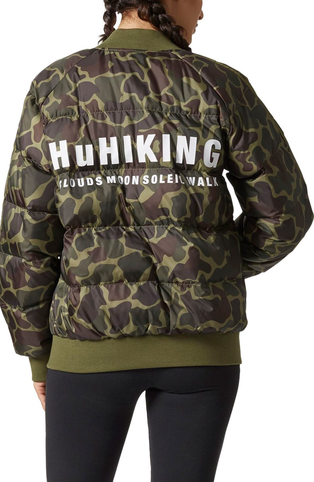 Alternate Image 2  - adidas Originals by Pharrell Williams Hu Hiking Camo Jacket