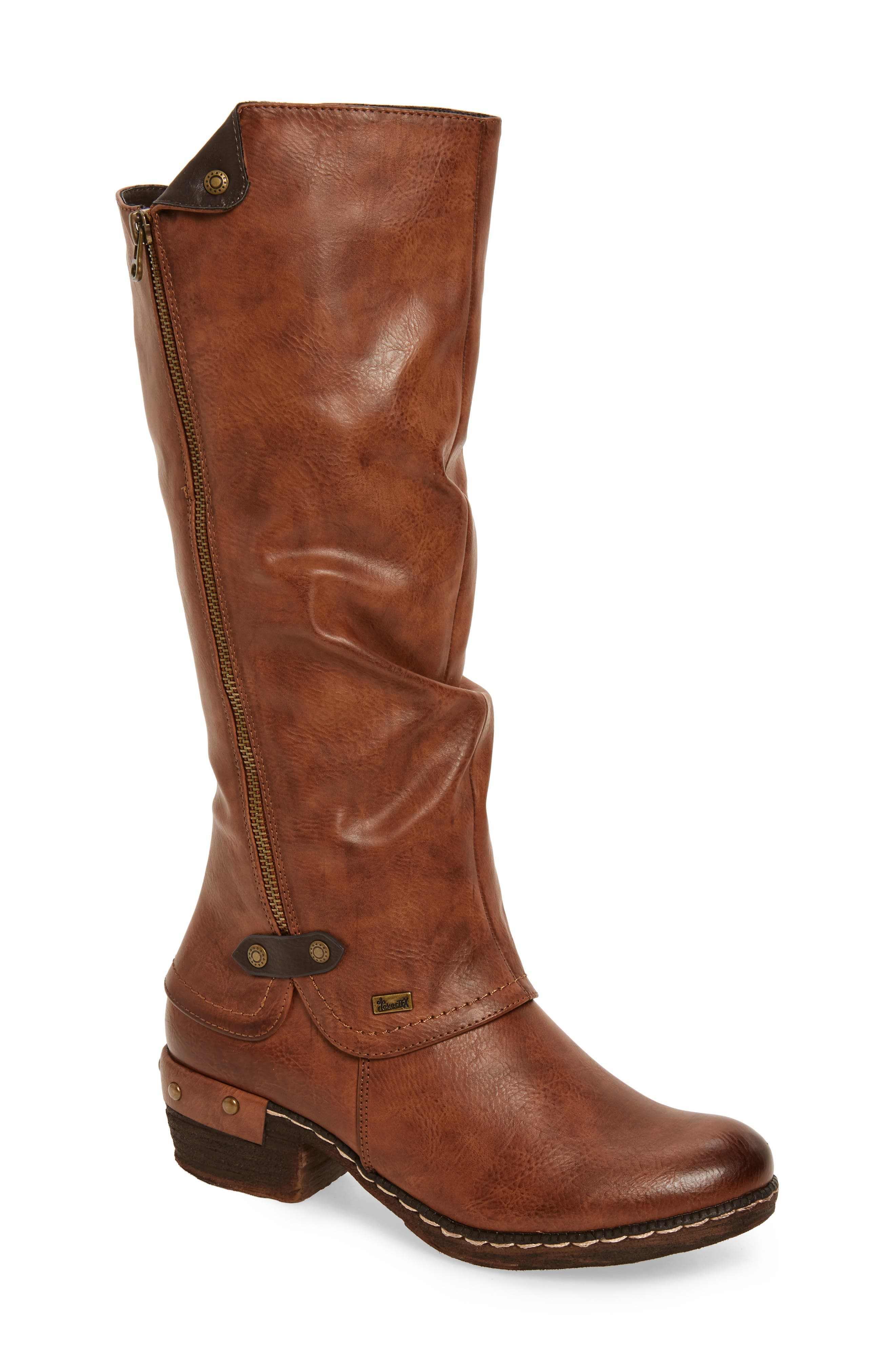 'Bernadette 55' Slightly Slouchy All Weather Boot,                         Main,                         color, Kastanie Faux Leather
