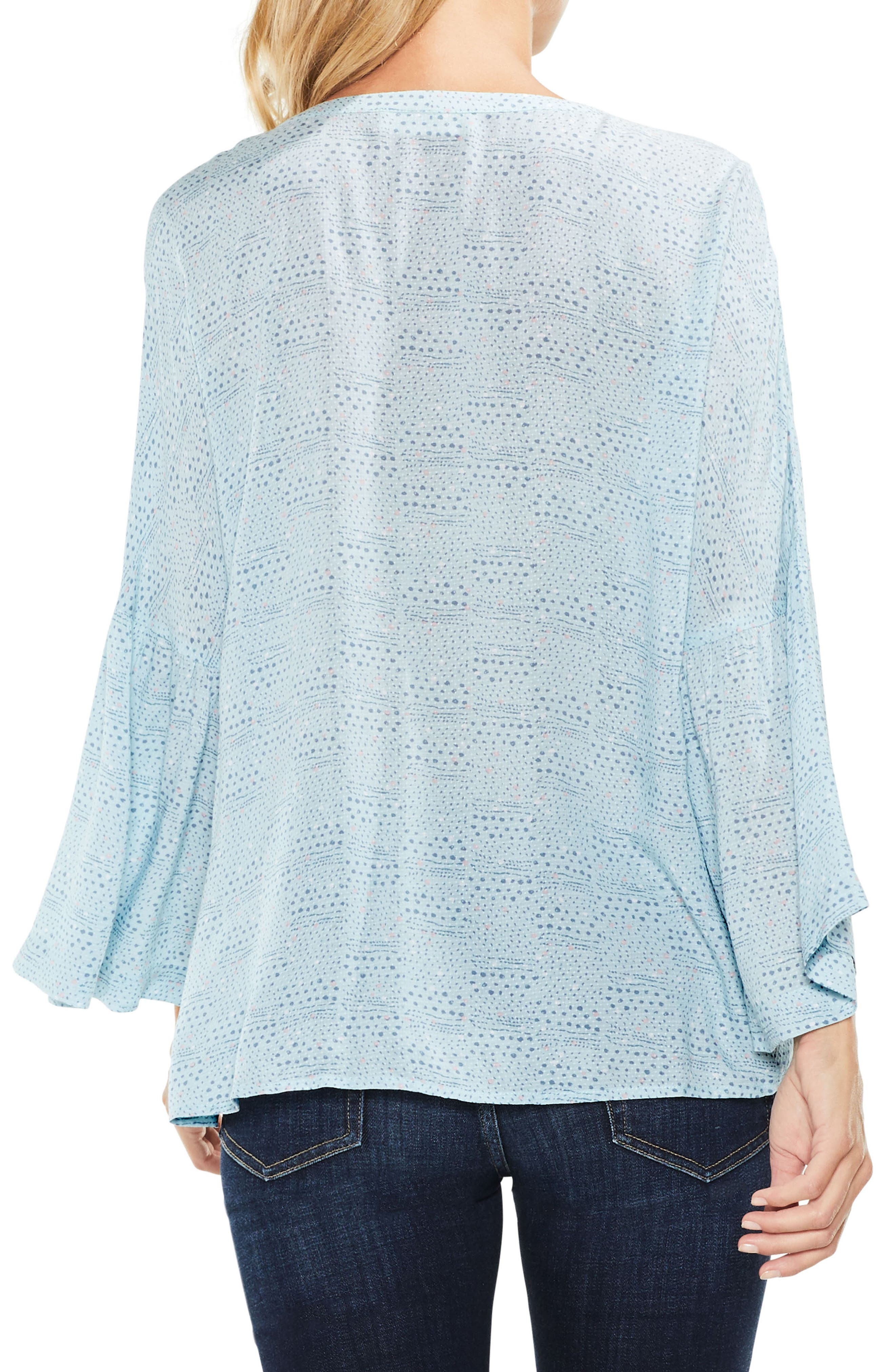 Alternate Image 2  - Two by Vince Camuto Bell Sleeve Geo Dialogue Top