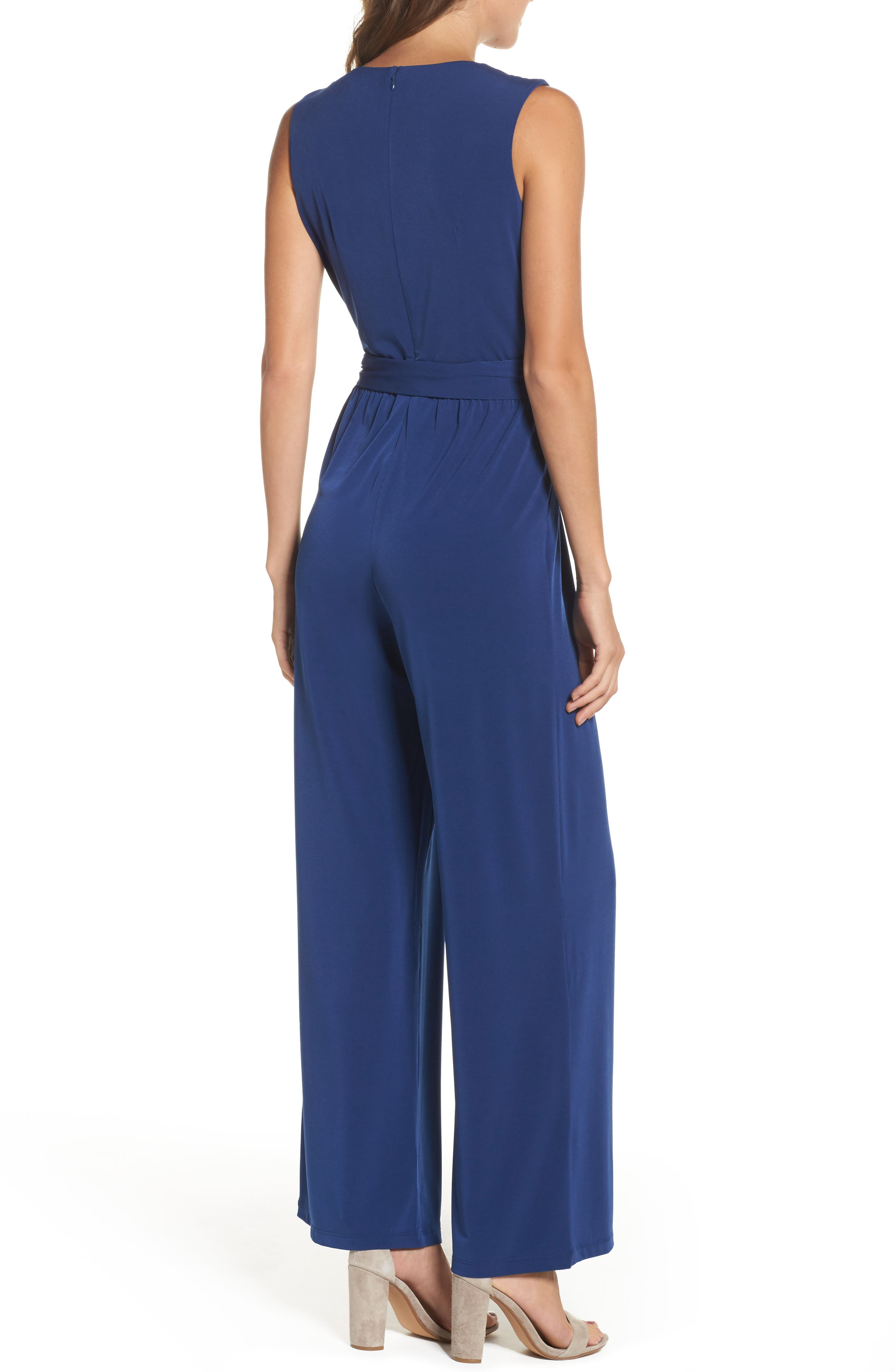 Alternate Image 2  - Vince Camuto Faux Wrap Jersey Jumpsuit