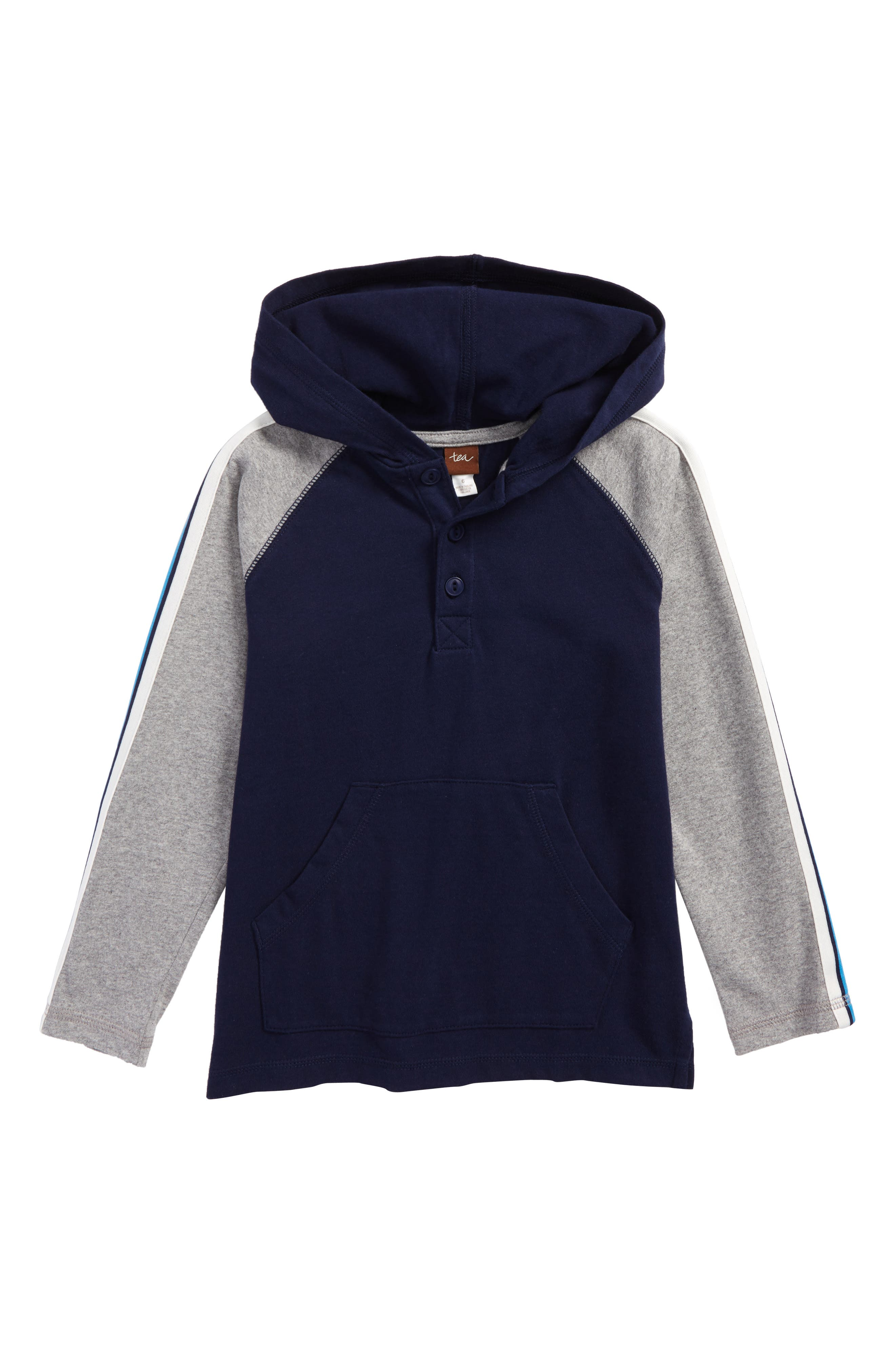 Alternate Image 1 Selected - Tea Collection Ewan Henley Hoodie (Toddler Boys & Little Boys)