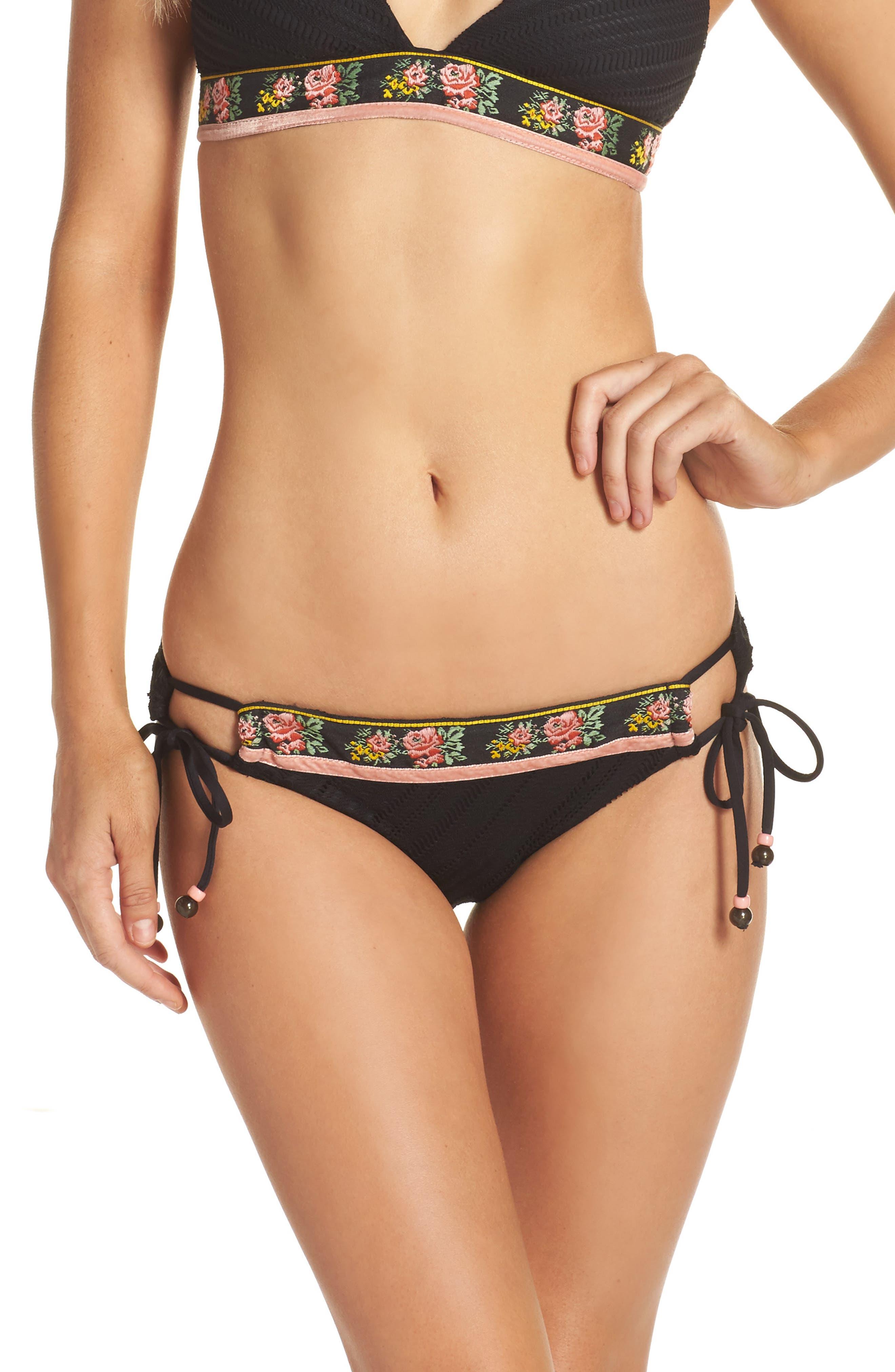 Fortune Teller Bikini Bottoms,                             Main thumbnail 1, color,                             Black