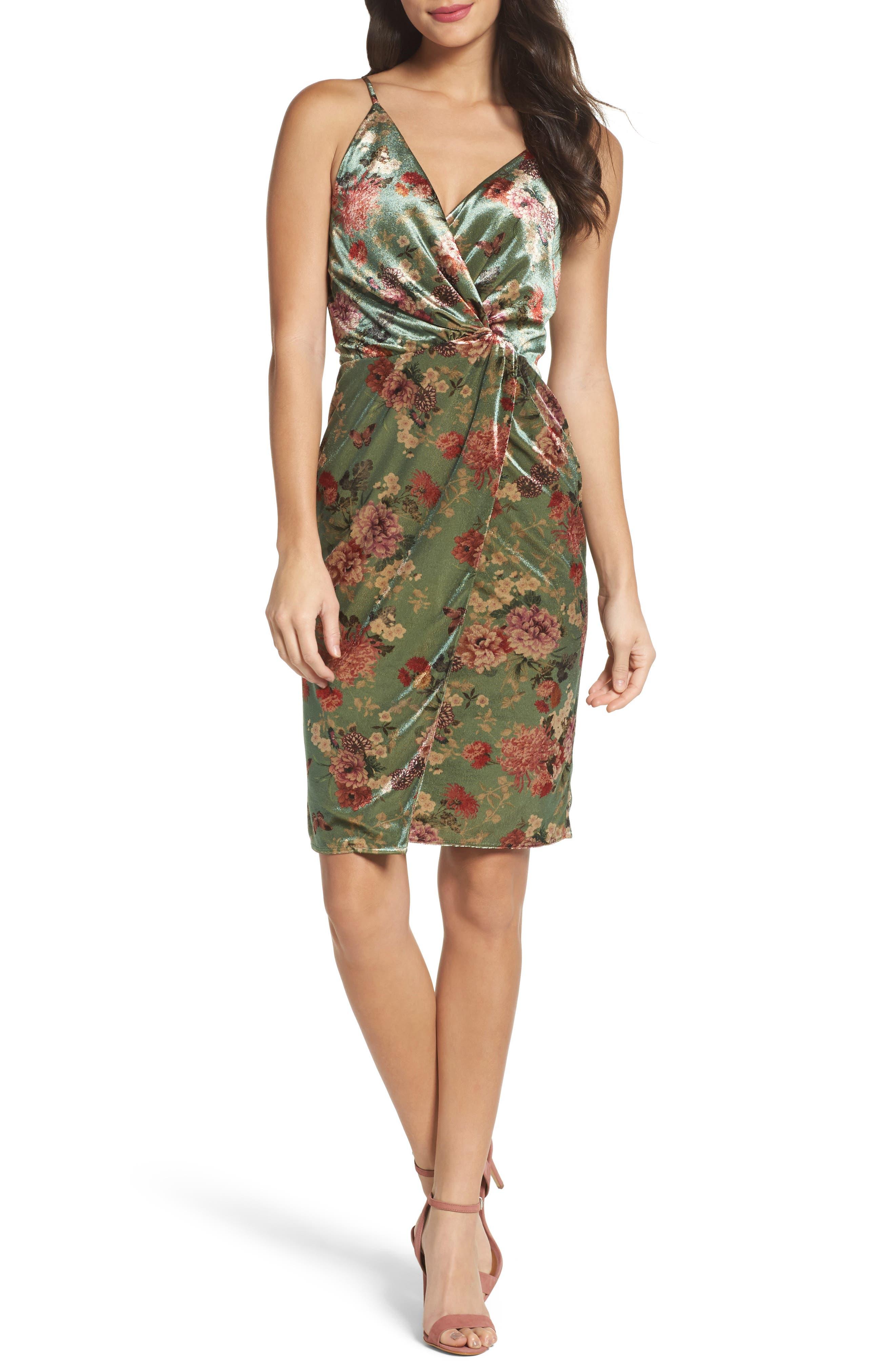 Adelyn Rae Adela Twist Sheath Dress
