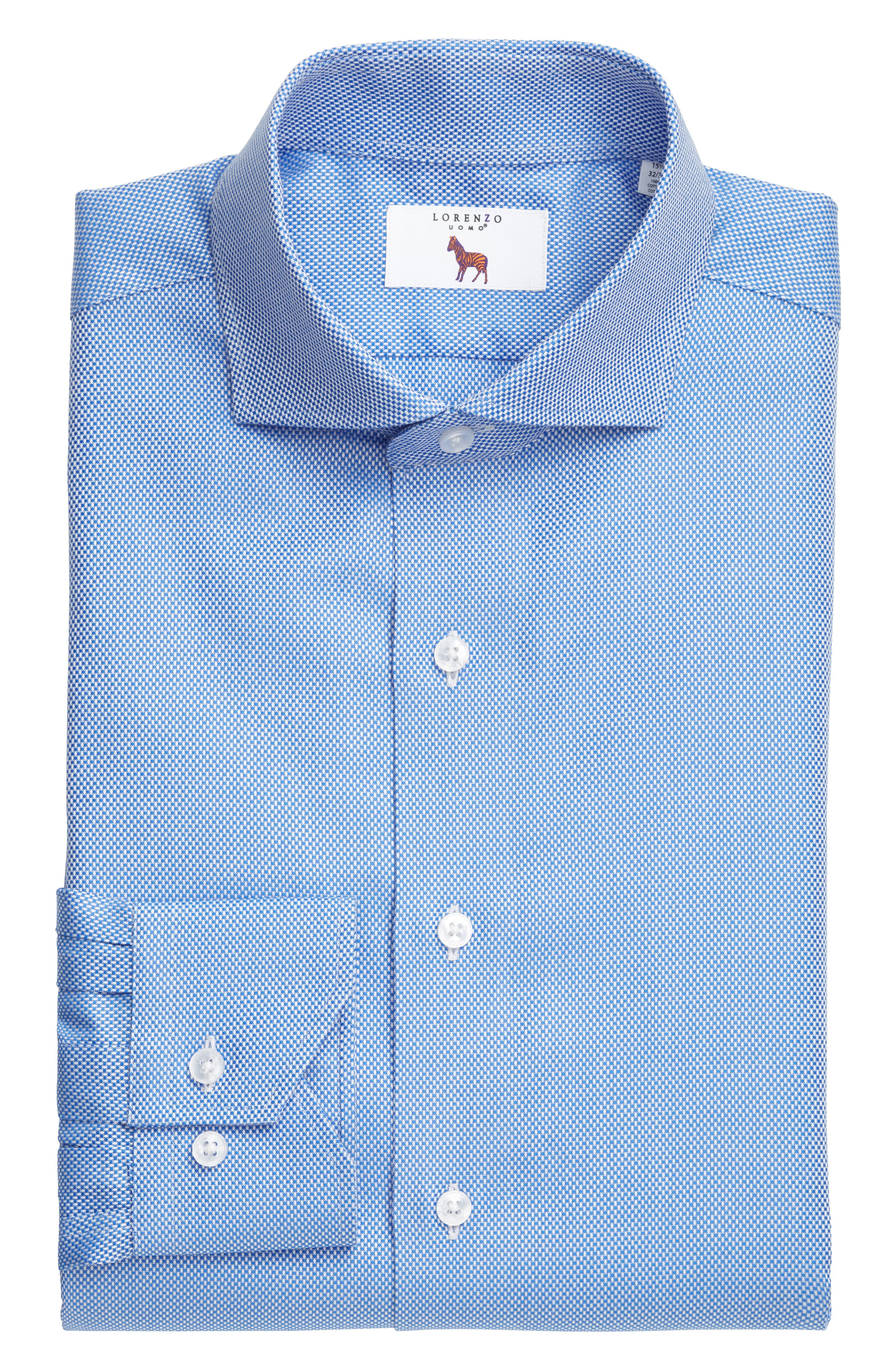 Lorenzo Uomo Trim Fit Texture Dress Shirt