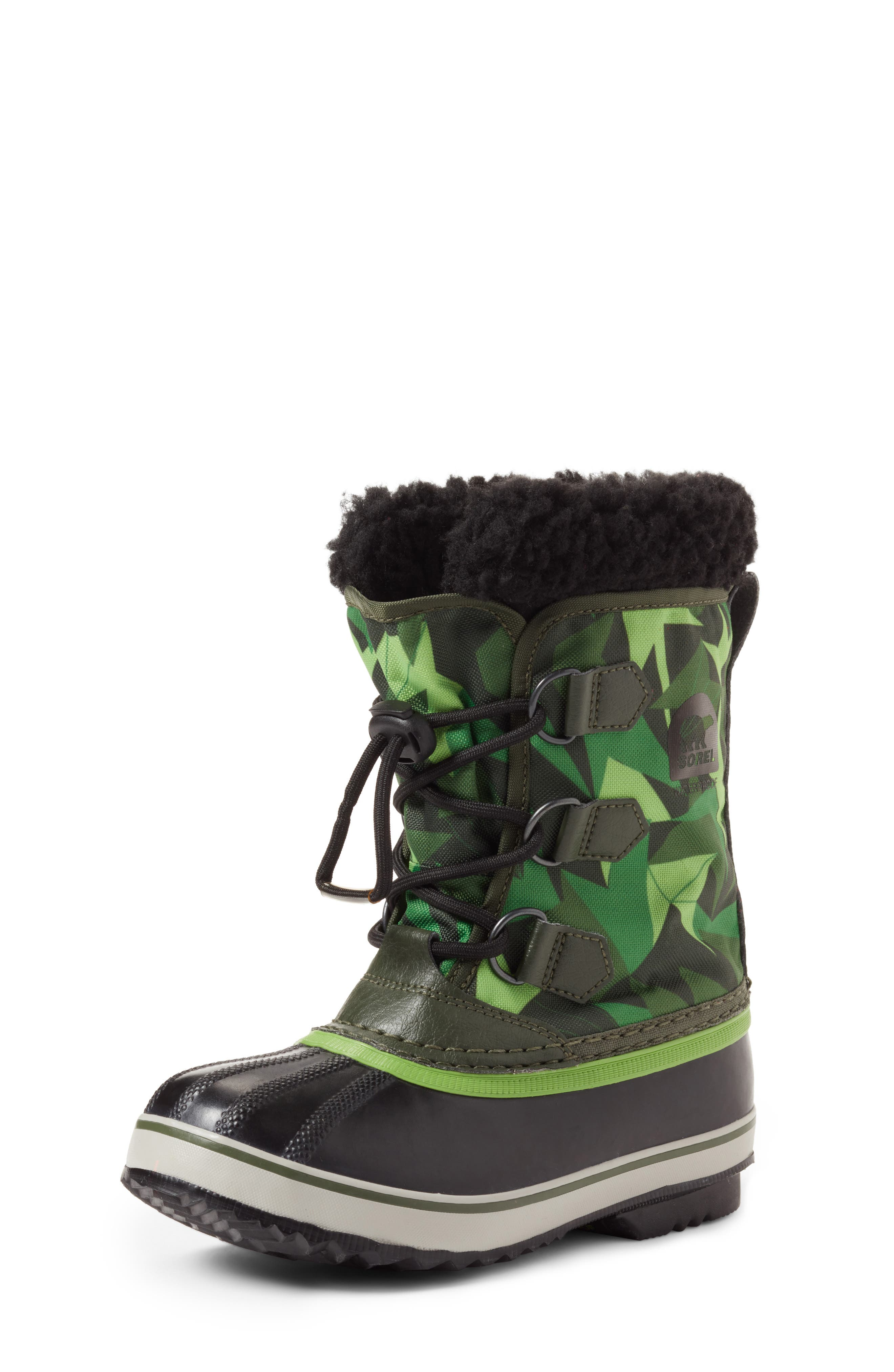 Yoot Pac Waterproof Insulated Snow Boot,                             Main thumbnail 1, color,                             Surplus Green/ Green Mamba