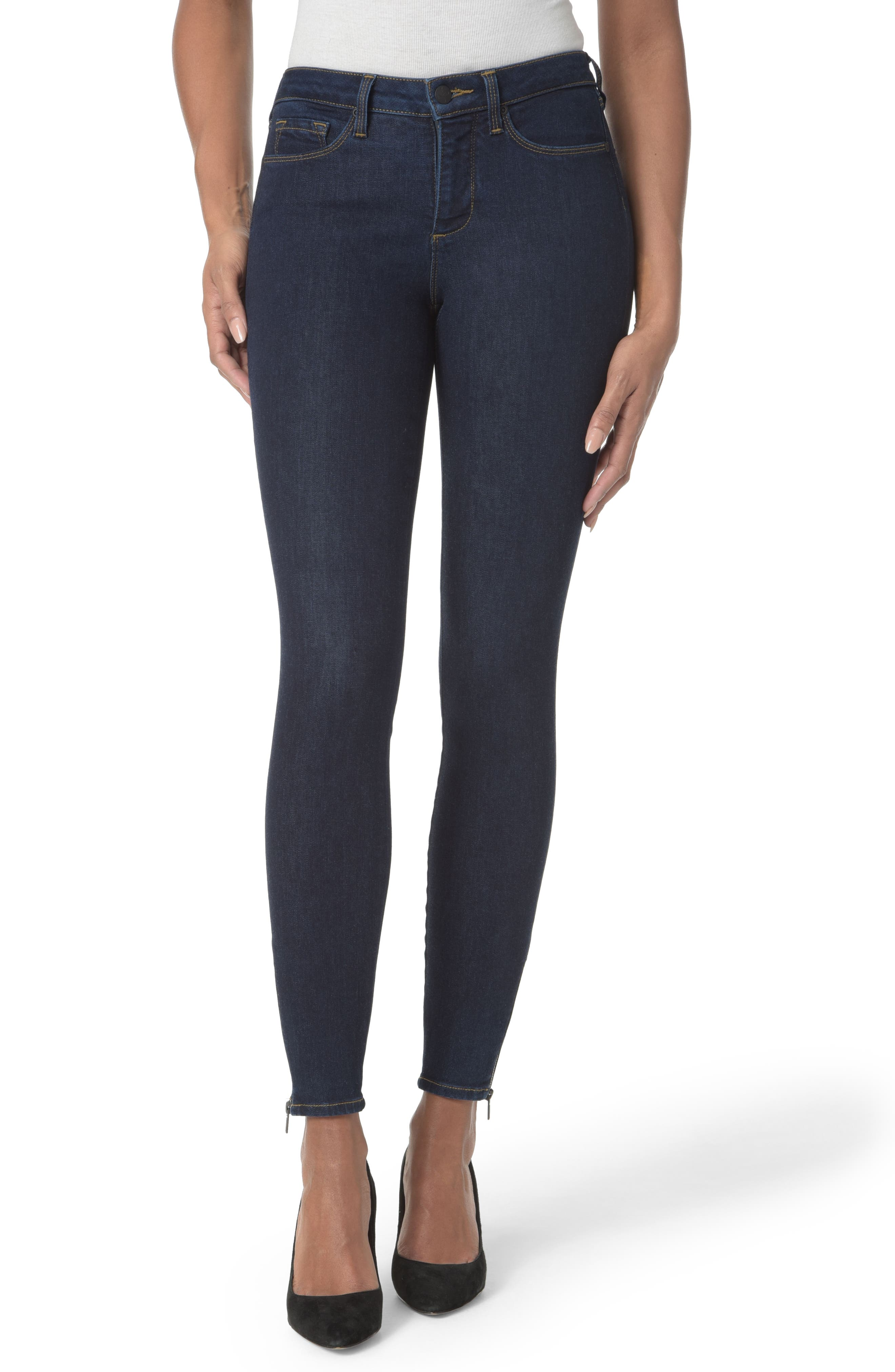 Main Image - NYDJ Dylan Ankle Zipper Hem Skinny Jeans (Rinse)