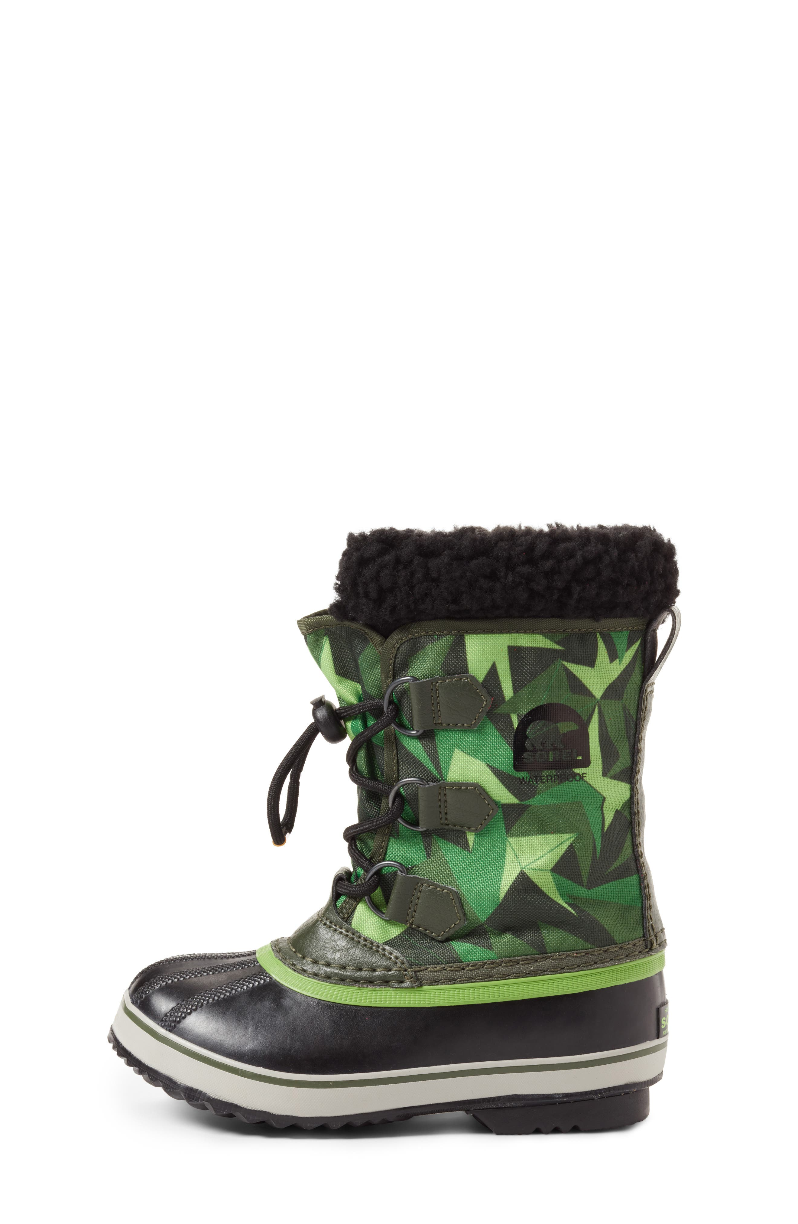 Yoot Pac Waterproof Insulated Snow Boot,                             Alternate thumbnail 4, color,                             Surplus Green/ Green Mamba