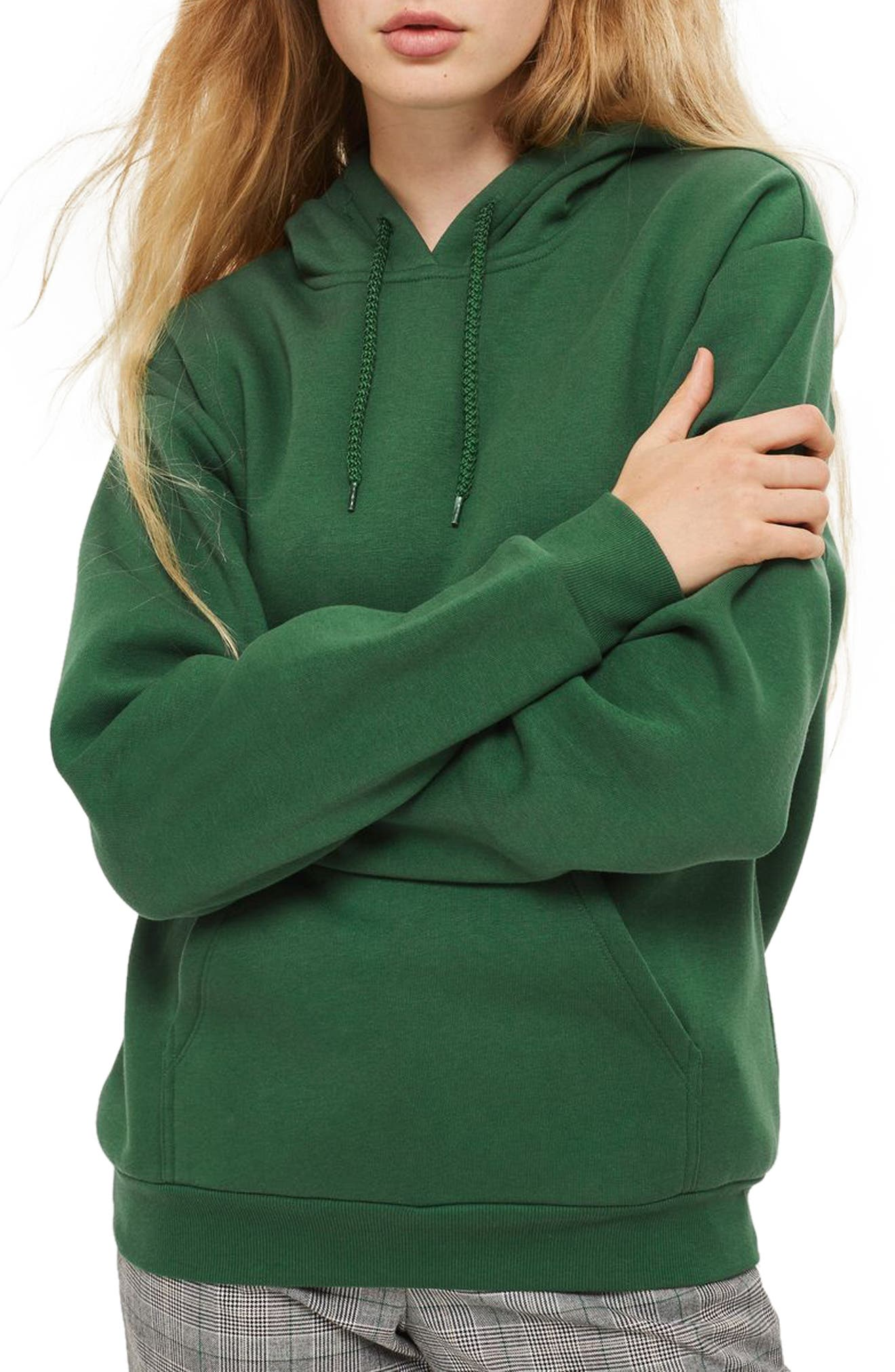 Oversize Hoodie,                         Main,                         color, Olive