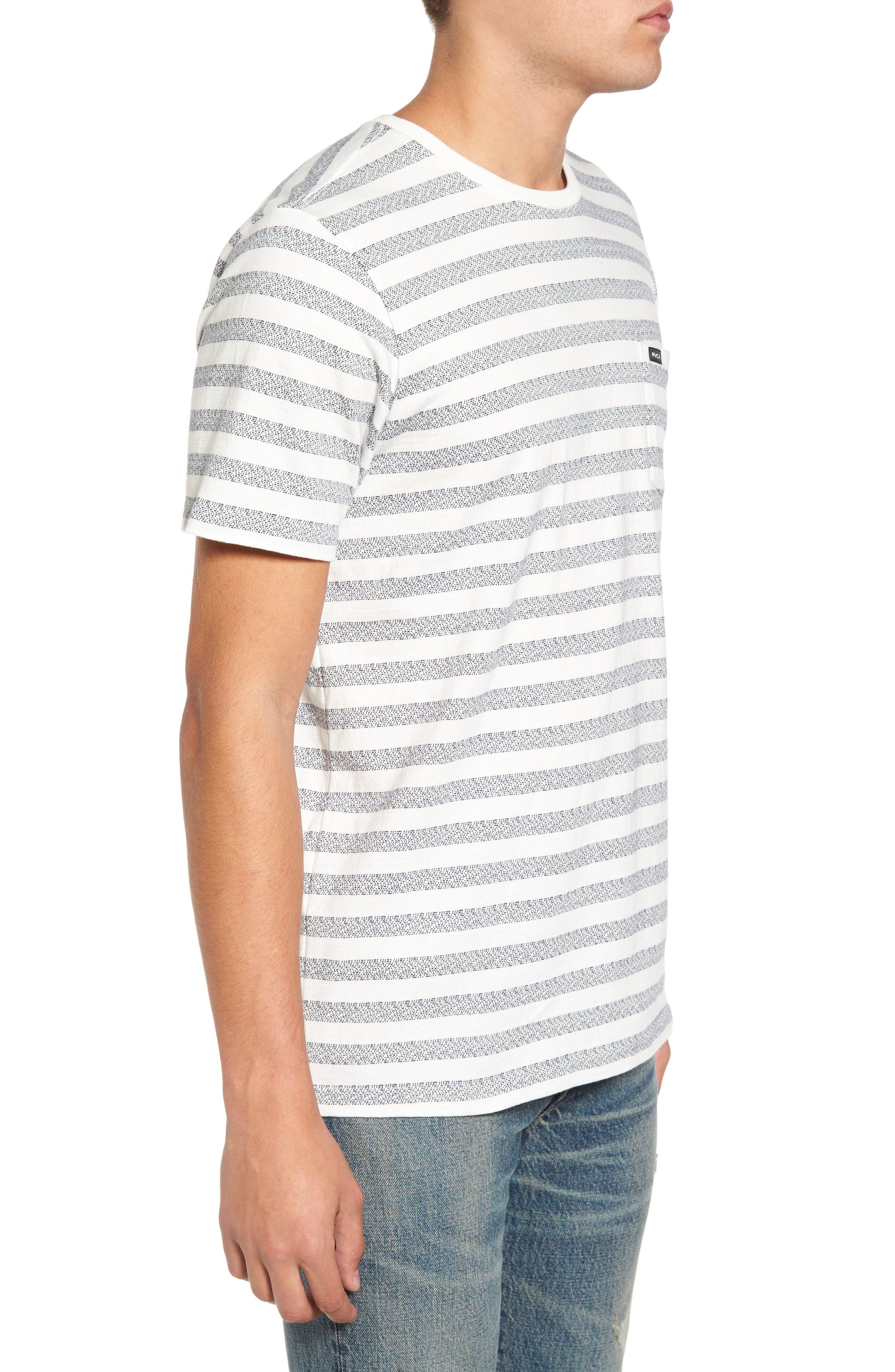 What's Shakin' Stripe T-Shirt,                             Alternate thumbnail 3, color,                             Antique White