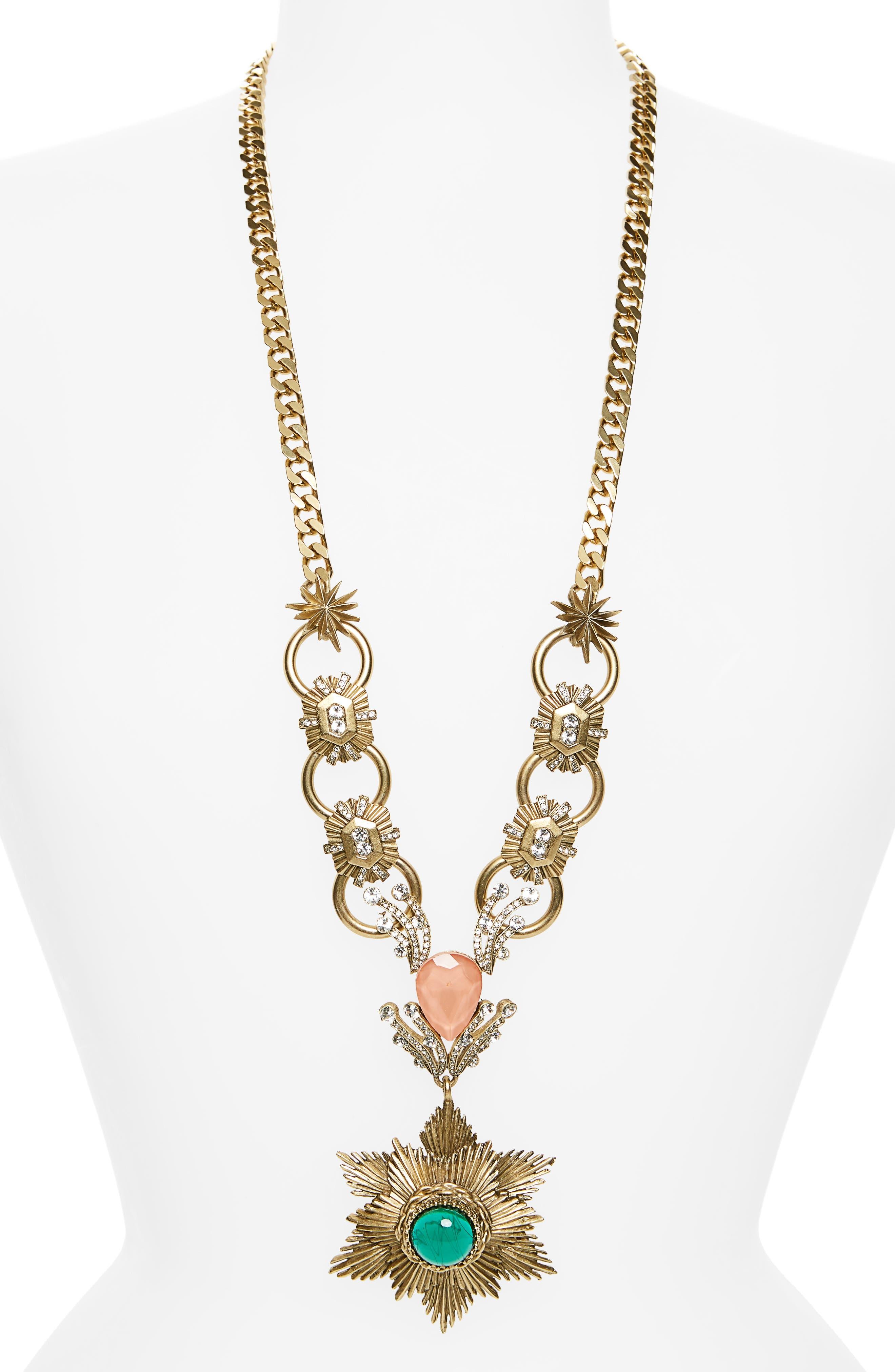 Gloria Pendant Necklace,                         Main,                         color, Blue Multi