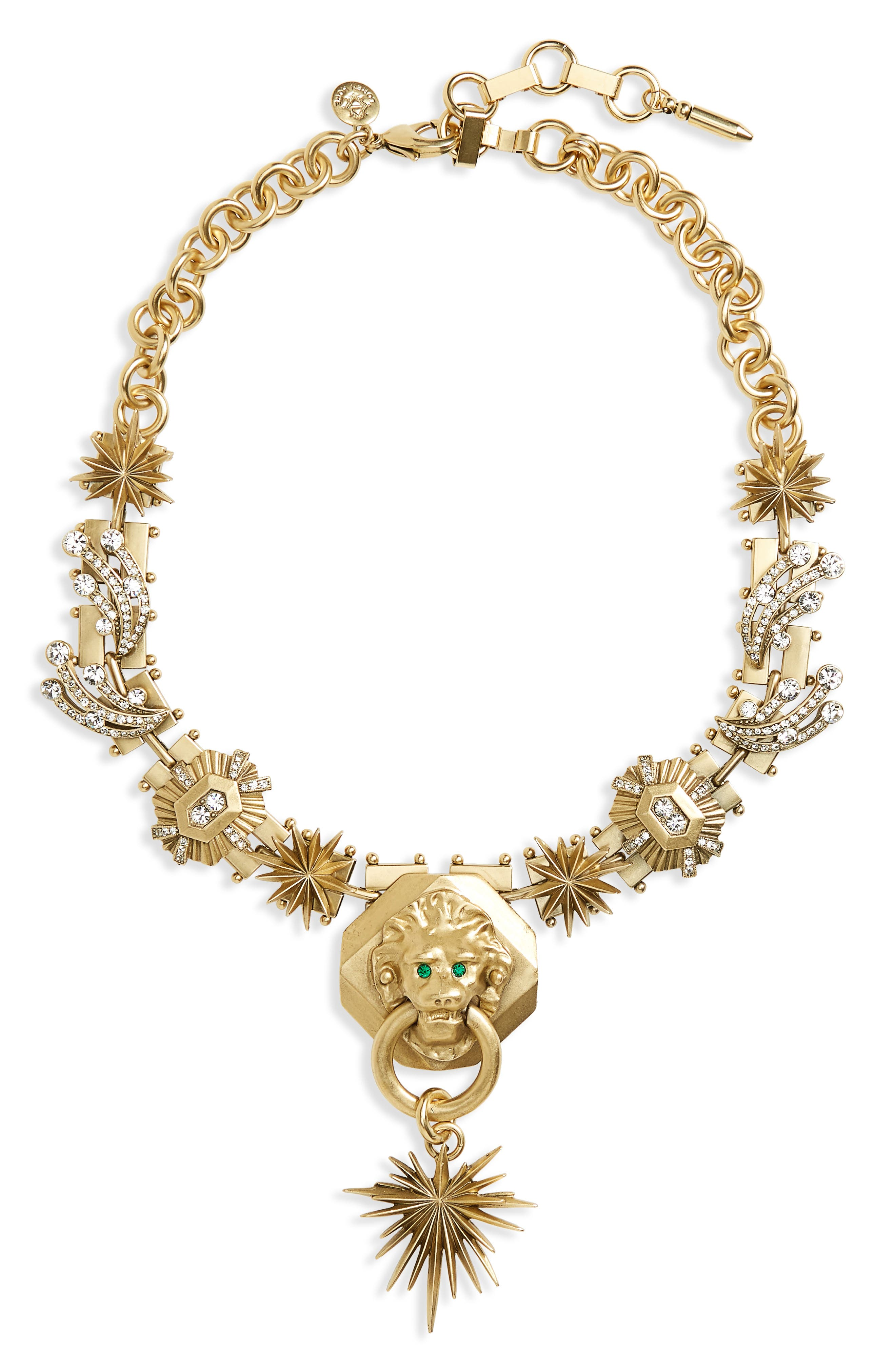 Leo Statement Necklace,                         Main,                         color, Crystal