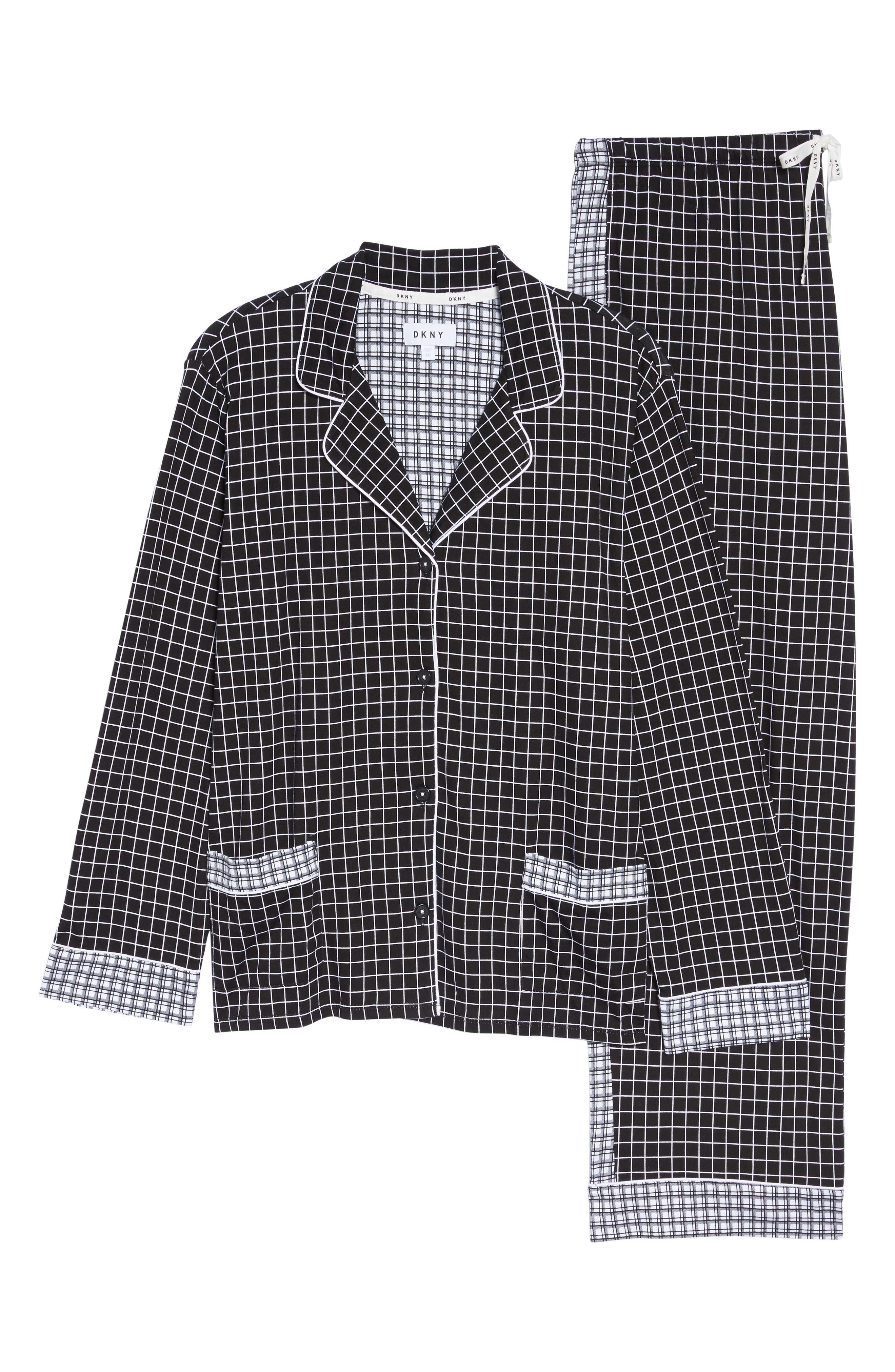 Alternate Image 6  - DKNY Jersey Pajamas (Plus Size)