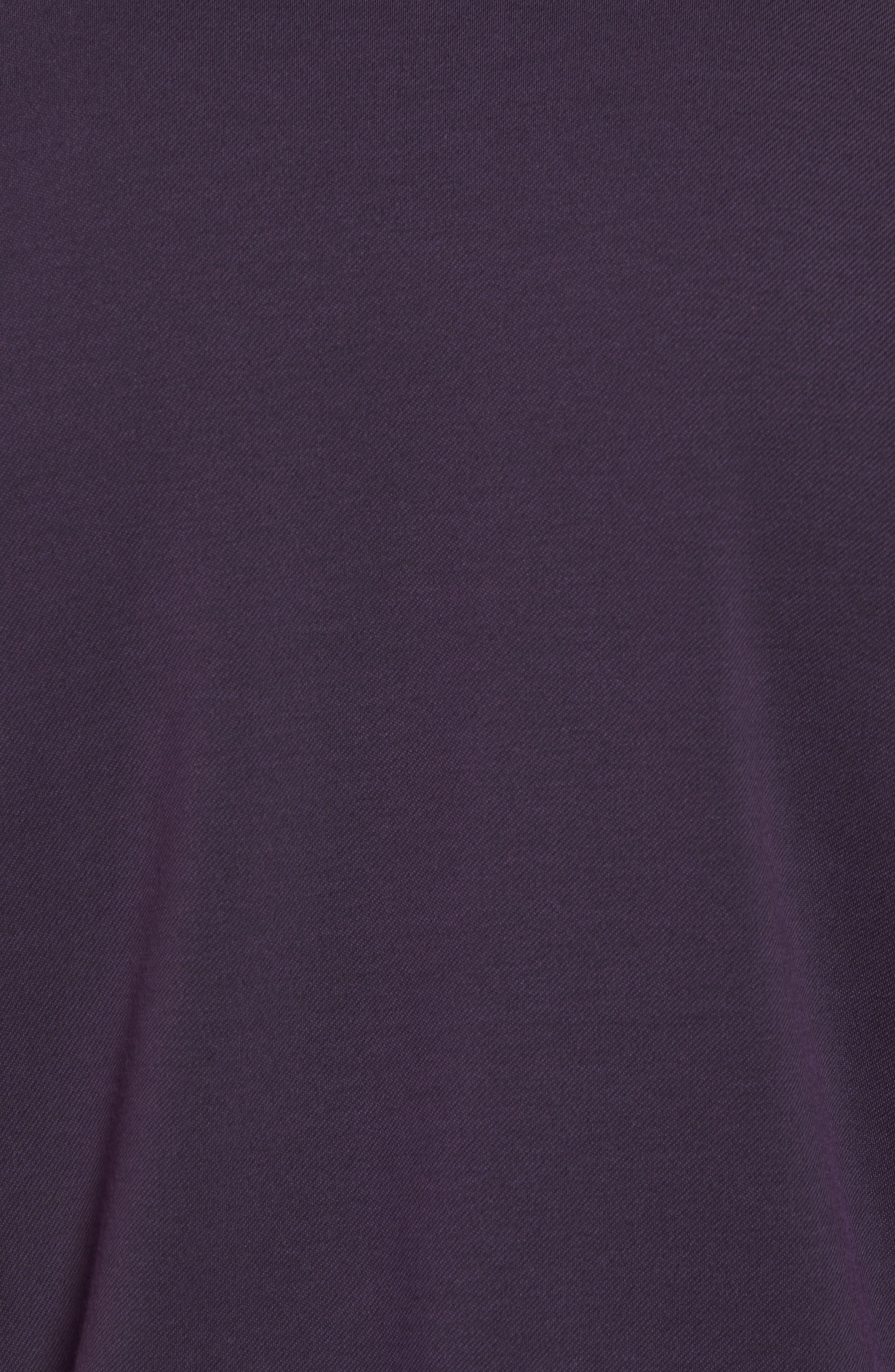 Irving Piqué Polo,                             Alternate thumbnail 5, color,                             Purple Plumeria/ Black
