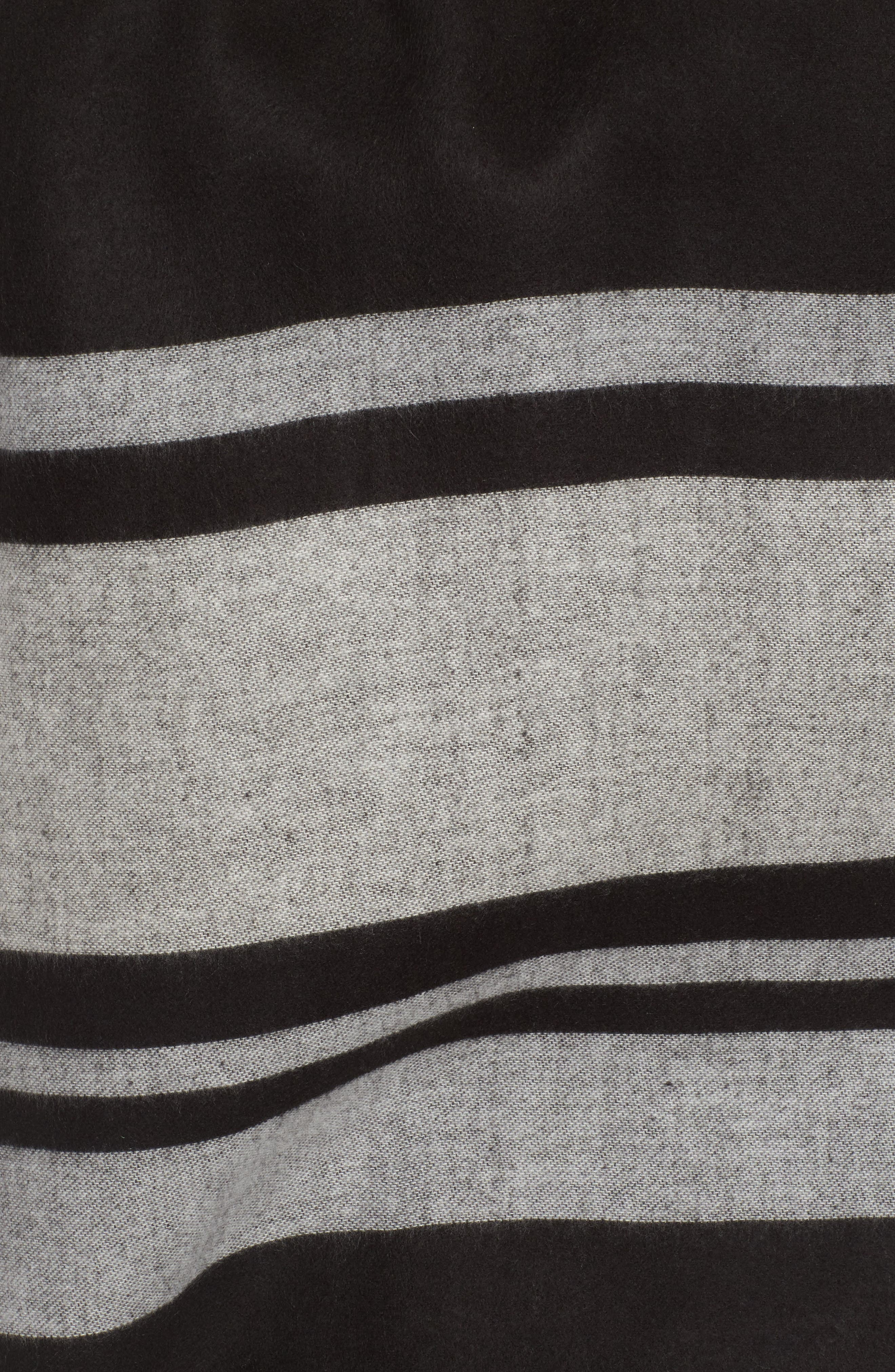 Stairway Stripe Blanket Cape,                             Alternate thumbnail 5, color,                             00-Black