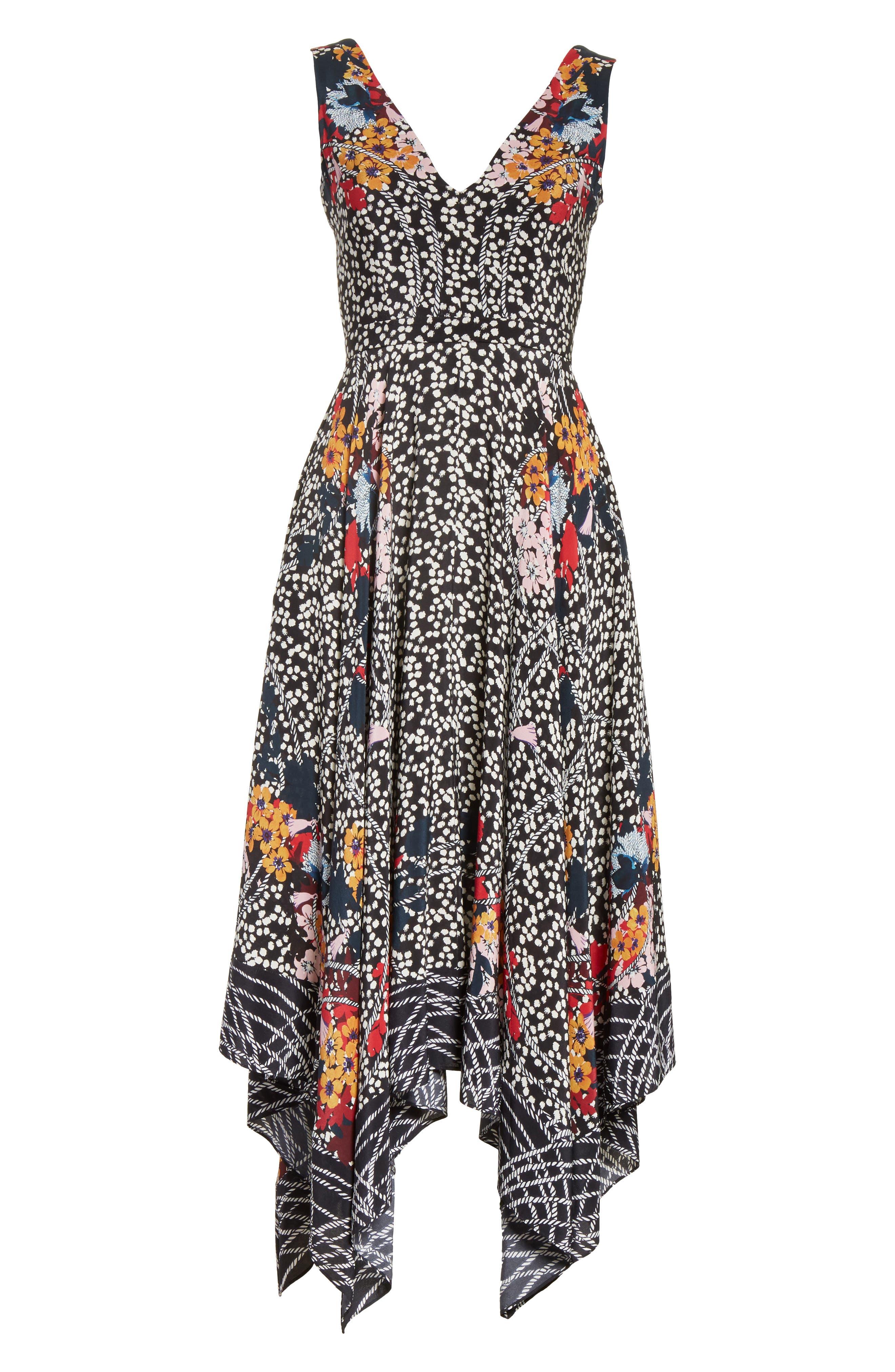 Alternate Image 6  - SALONI Zuri Floral Print Dress