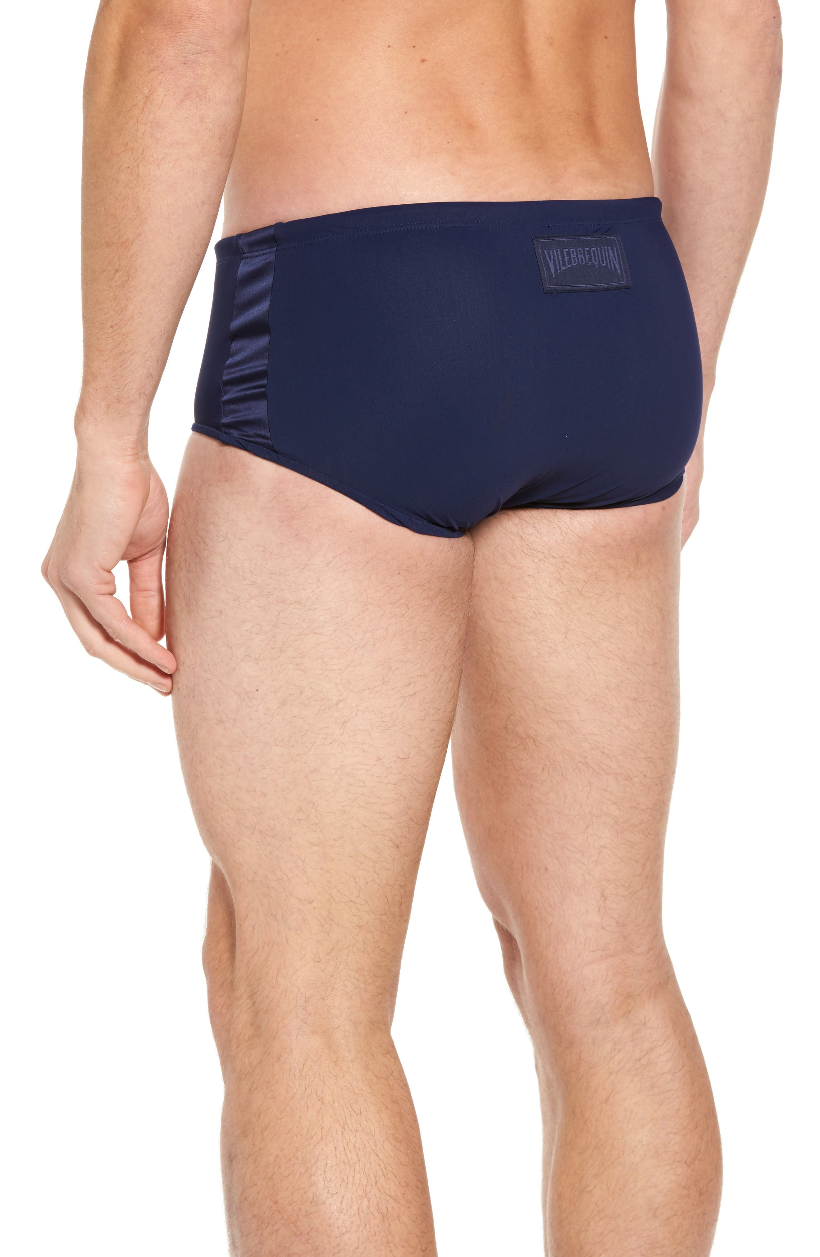 Tuxedo Swim Briefs,                             Alternate thumbnail 2, color,                             Navy