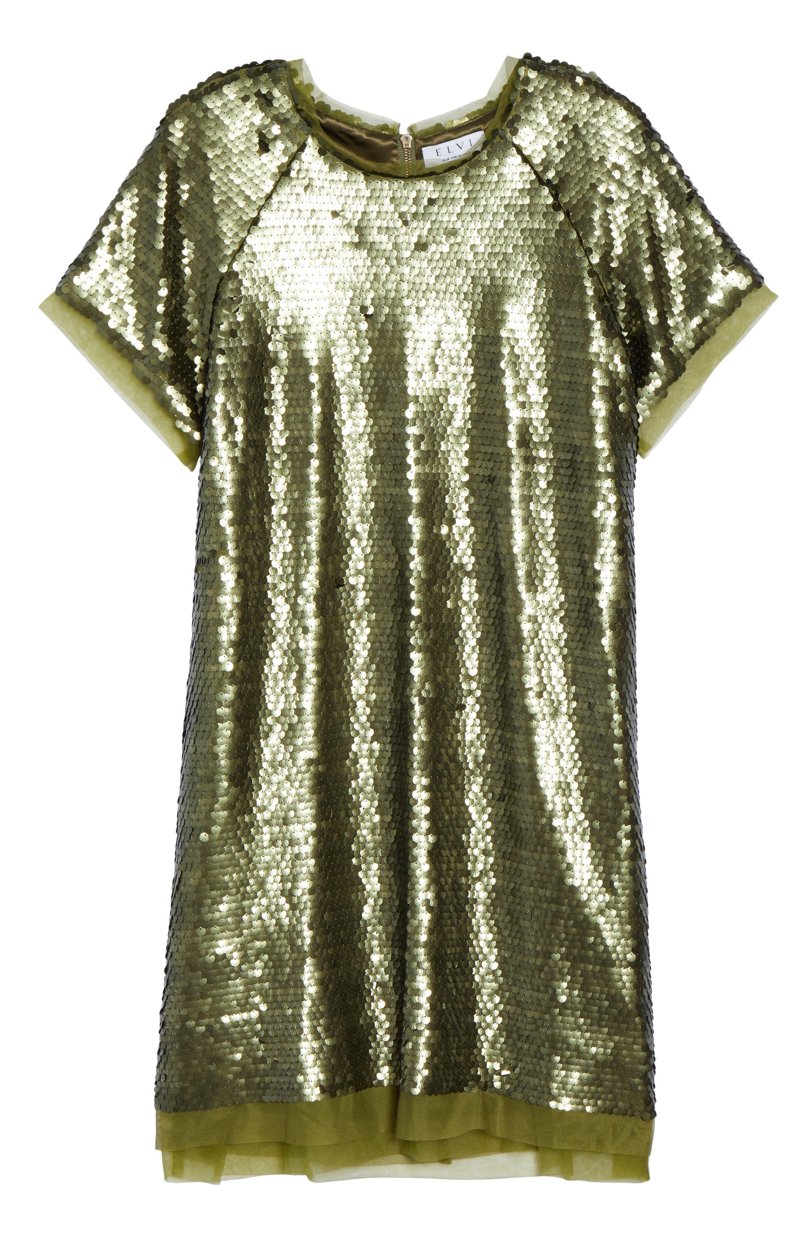 Alternate Image 6  - ELVI Sequin Mini Dress (Plus Size)
