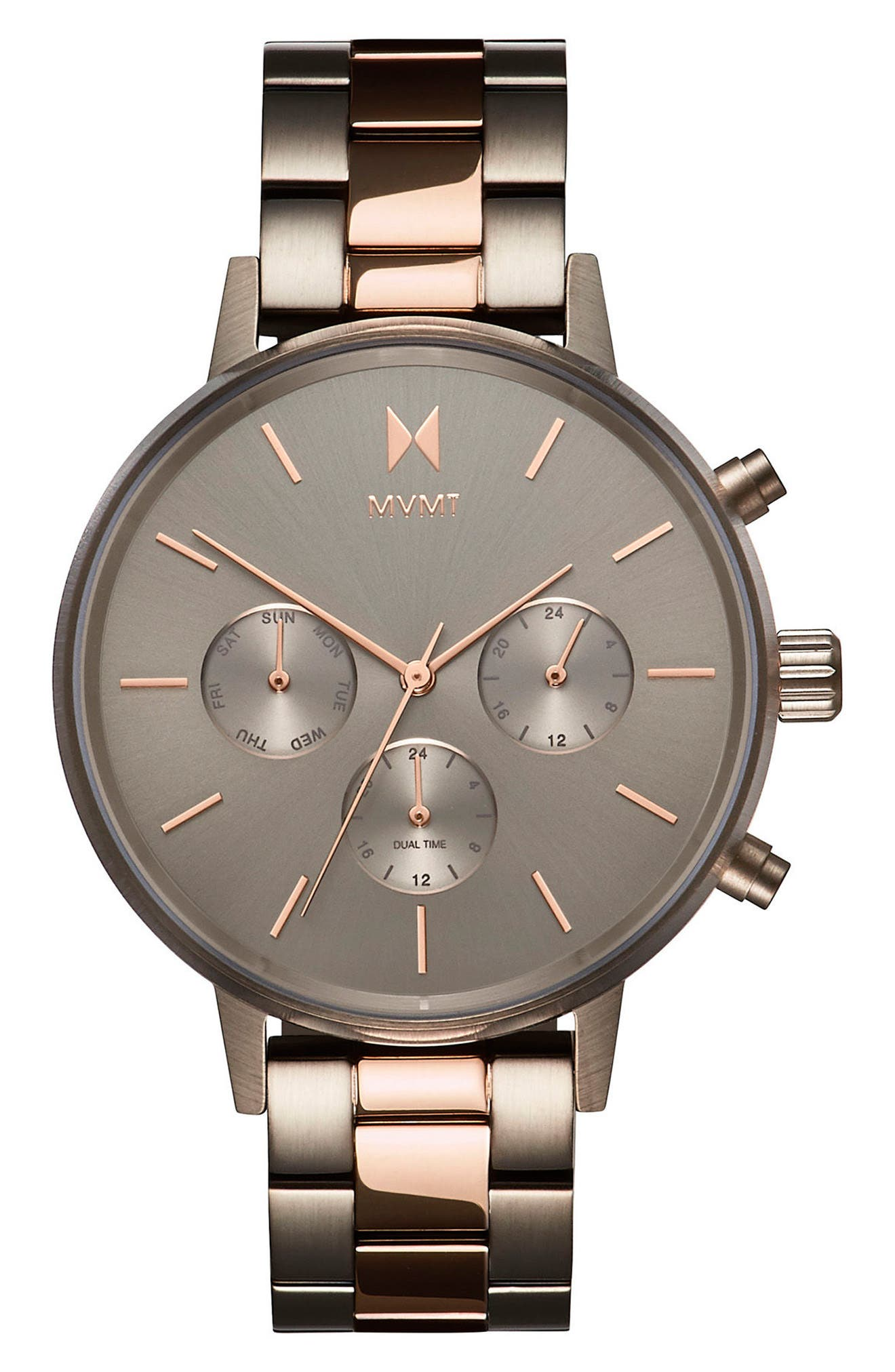 Nova Chronograph Bracelet Watch, 38mm,                         Main,                         color, Slate/ Rose Gold