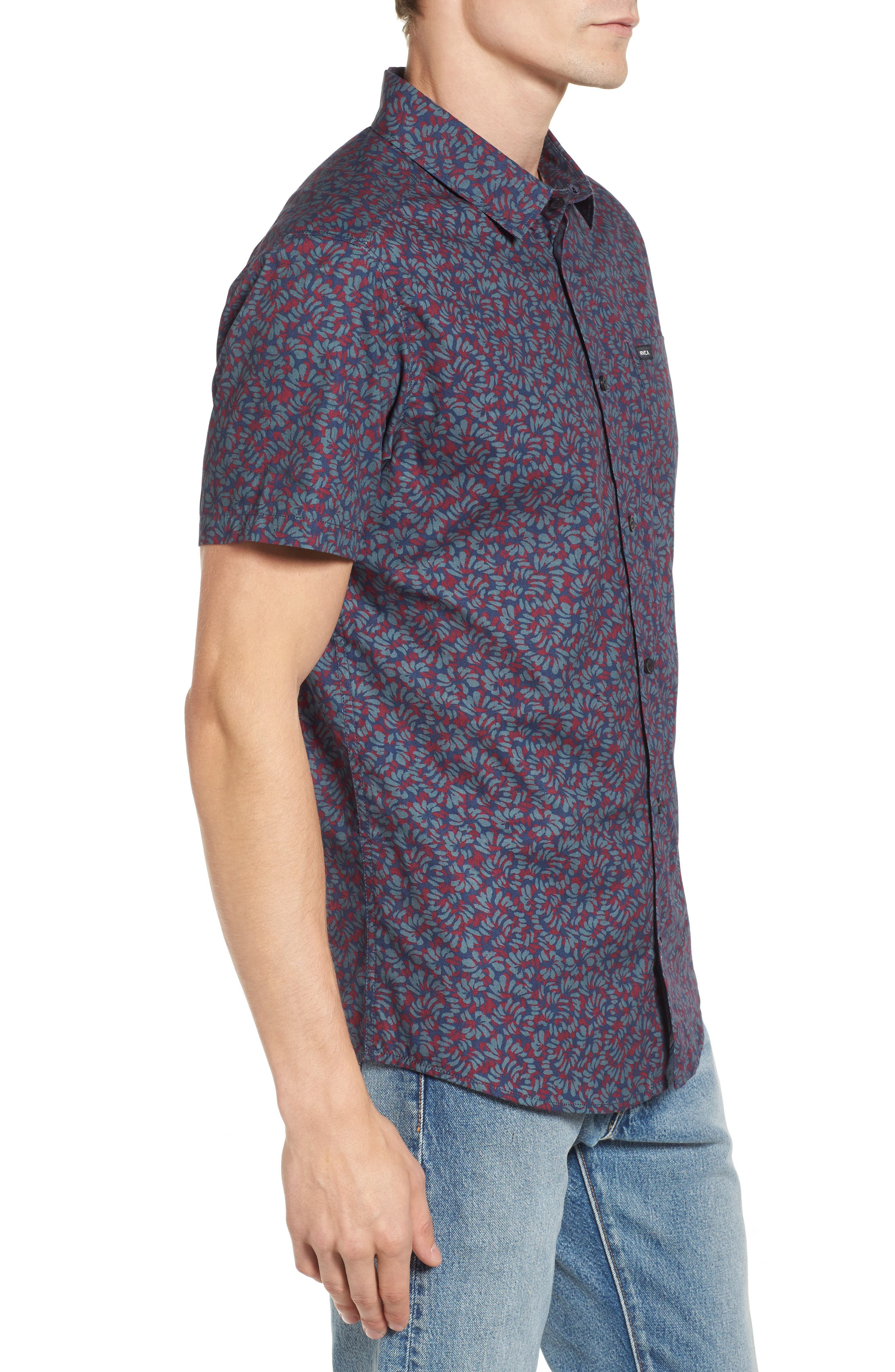 Alternate Image 3  - RVCA Brong Short Sleeve Shirt