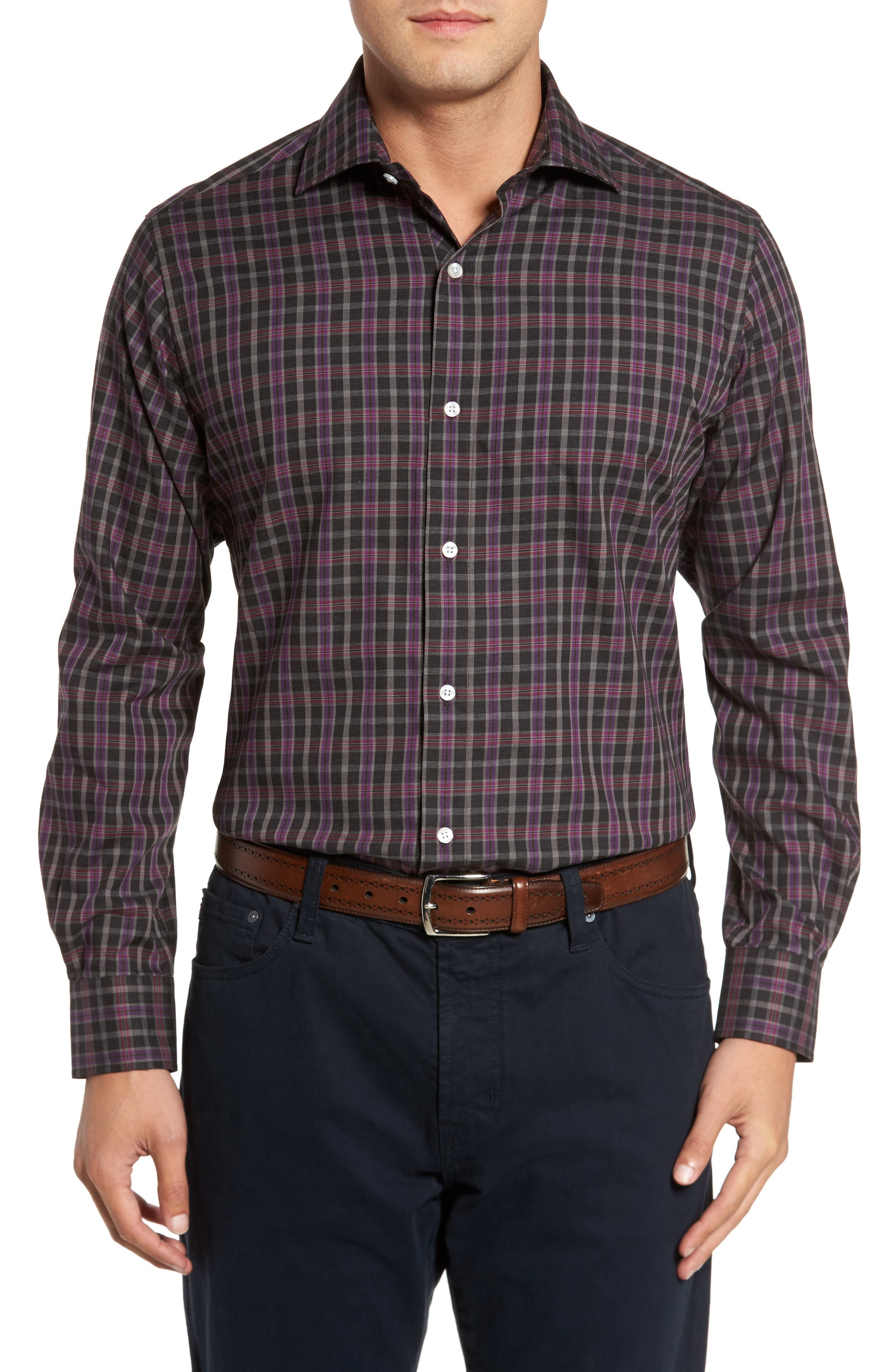 Main Image - TailorByrd Carencro Plaid Sport Shirt