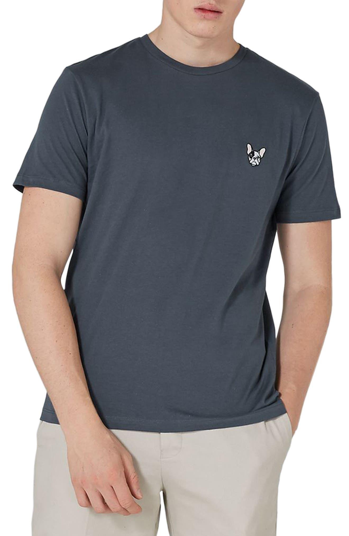 Topman Frenchie Patch T-Shirt