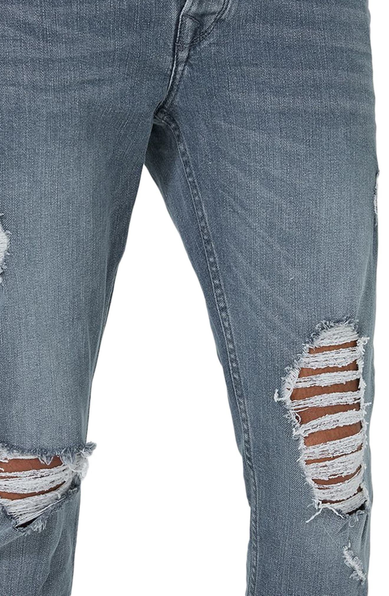 Alternate Image 3  - Topman Extreme Rip Stretch Jeans