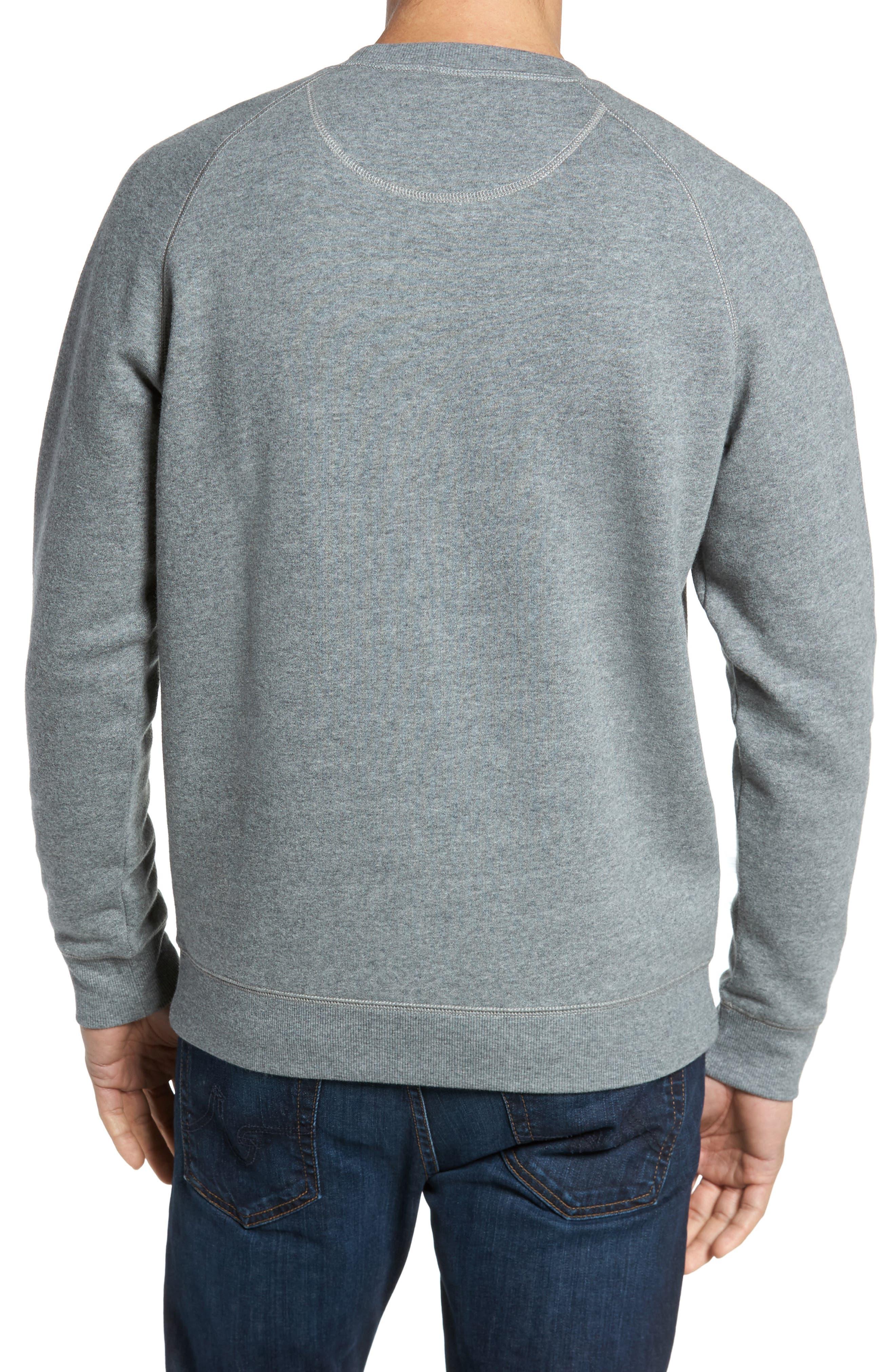 Fleece Sweatshirt,                             Alternate thumbnail 2, color,                             Grey Paloma Heather