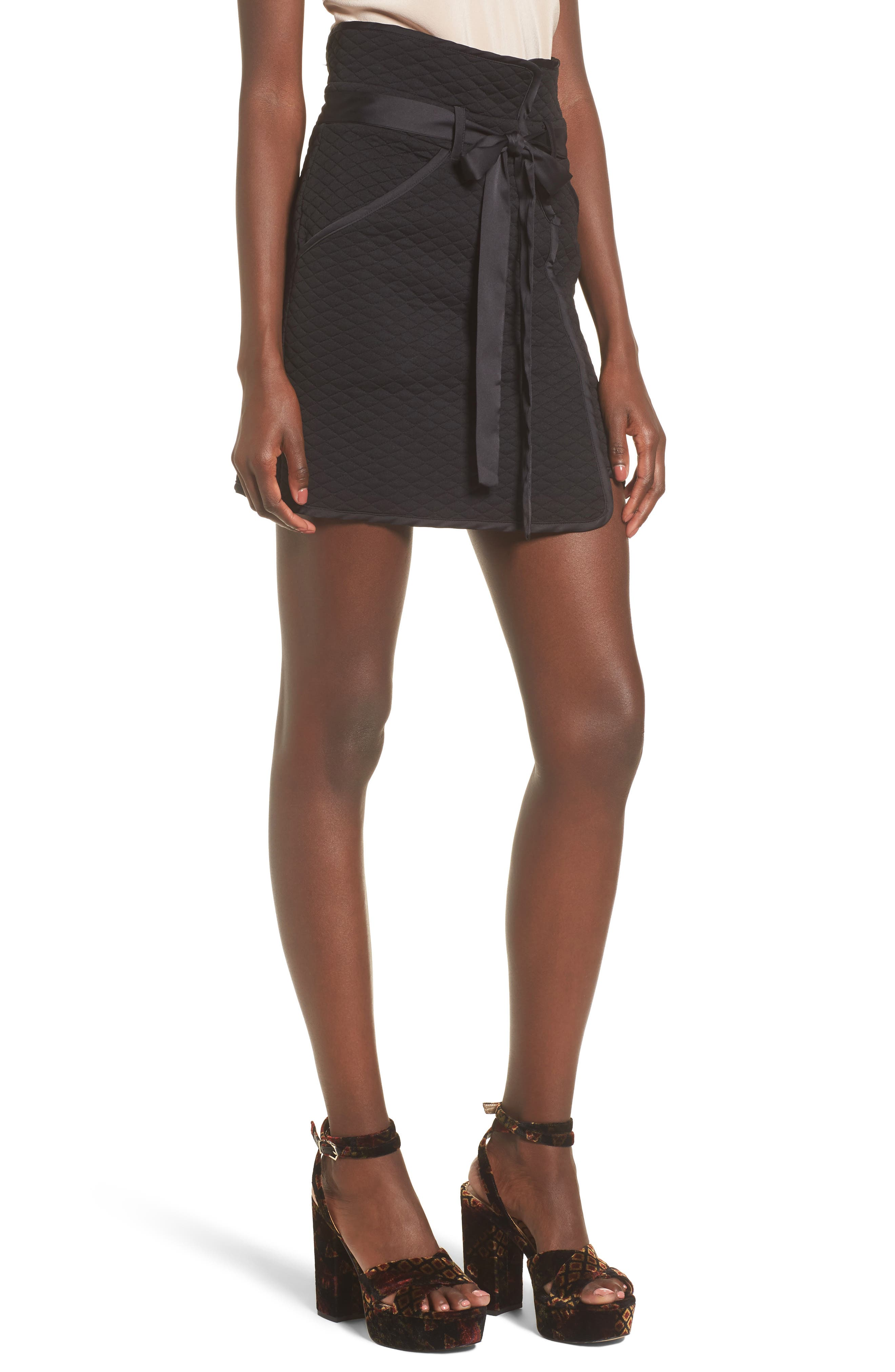 Andi Miniskirt,                             Main thumbnail 1, color,                             Black