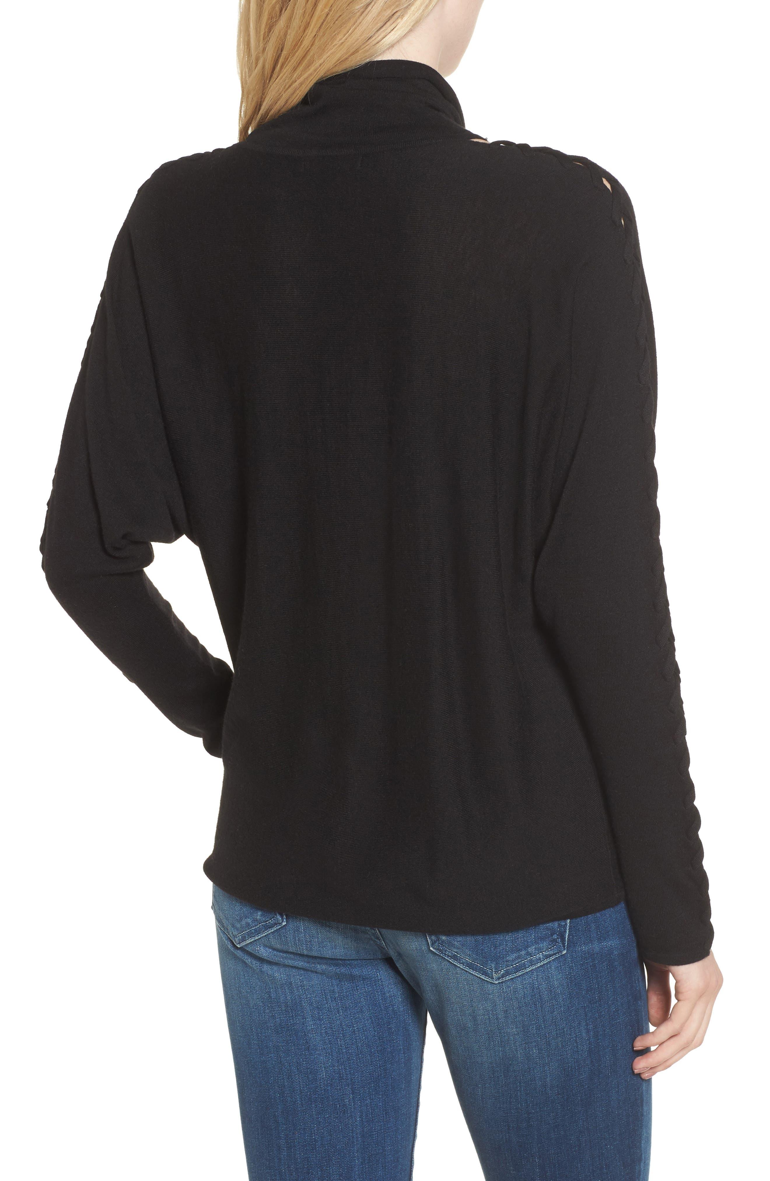 Victoire Turtleneck Sweater,                             Alternate thumbnail 2, color,                             Black
